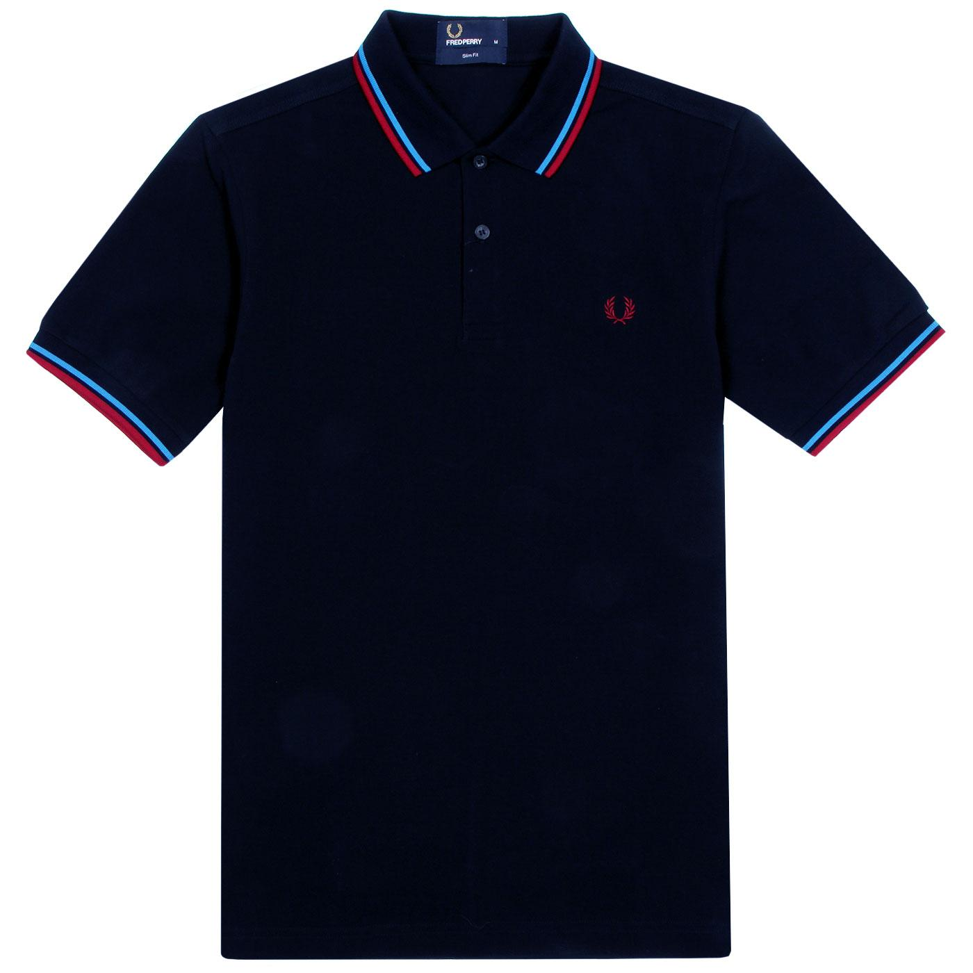 FRED PERRY M3600 Mod Twin Tipped Pique Polo Top N