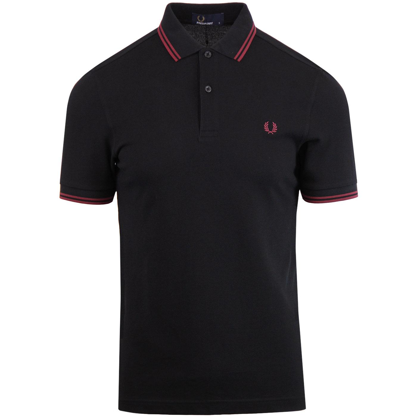 FRED PERRY M3600 Mod Twin Tipped Polo Shirt (BB)