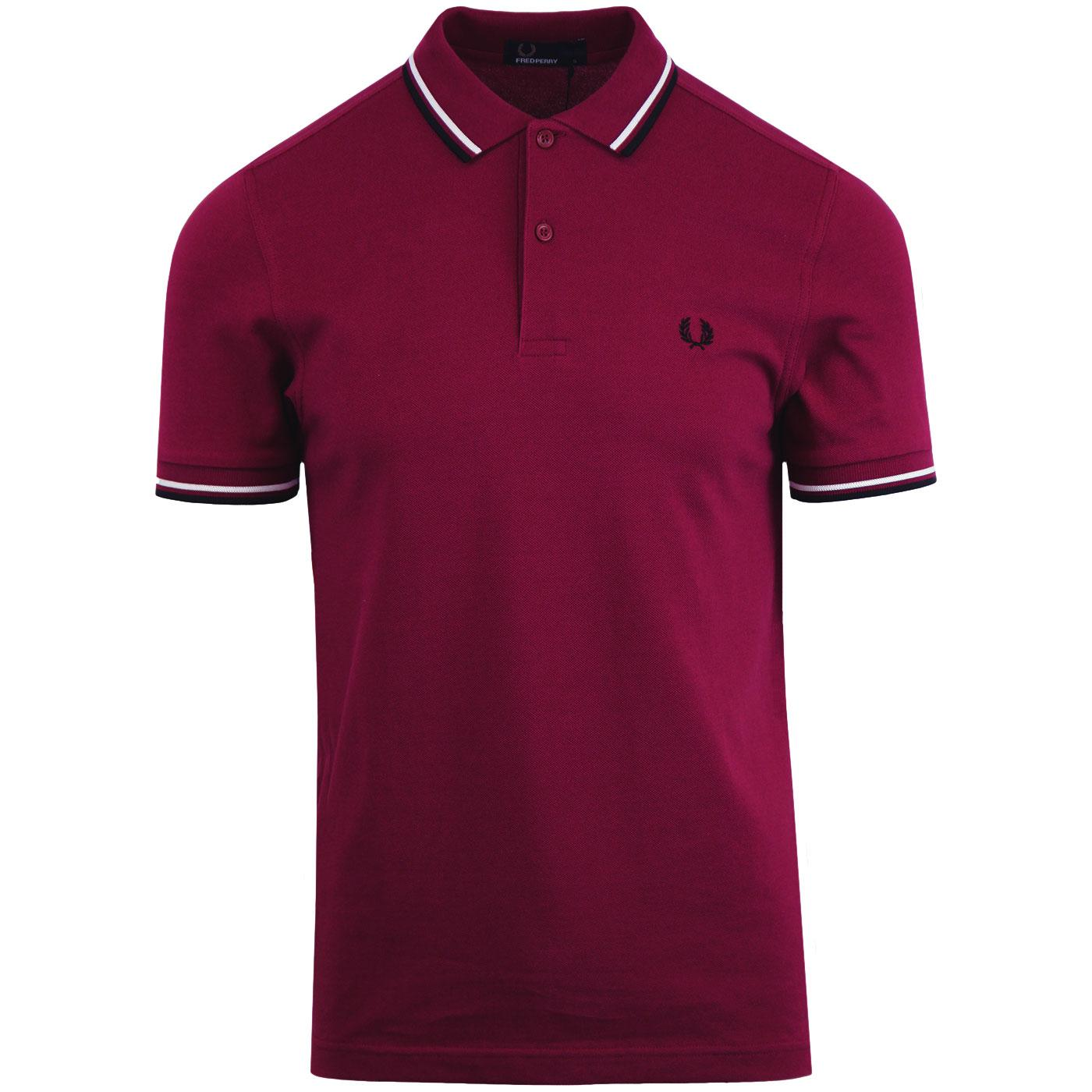 FRED PERRY M3600 Mod Twin Tipped Polo Shirt Sherry