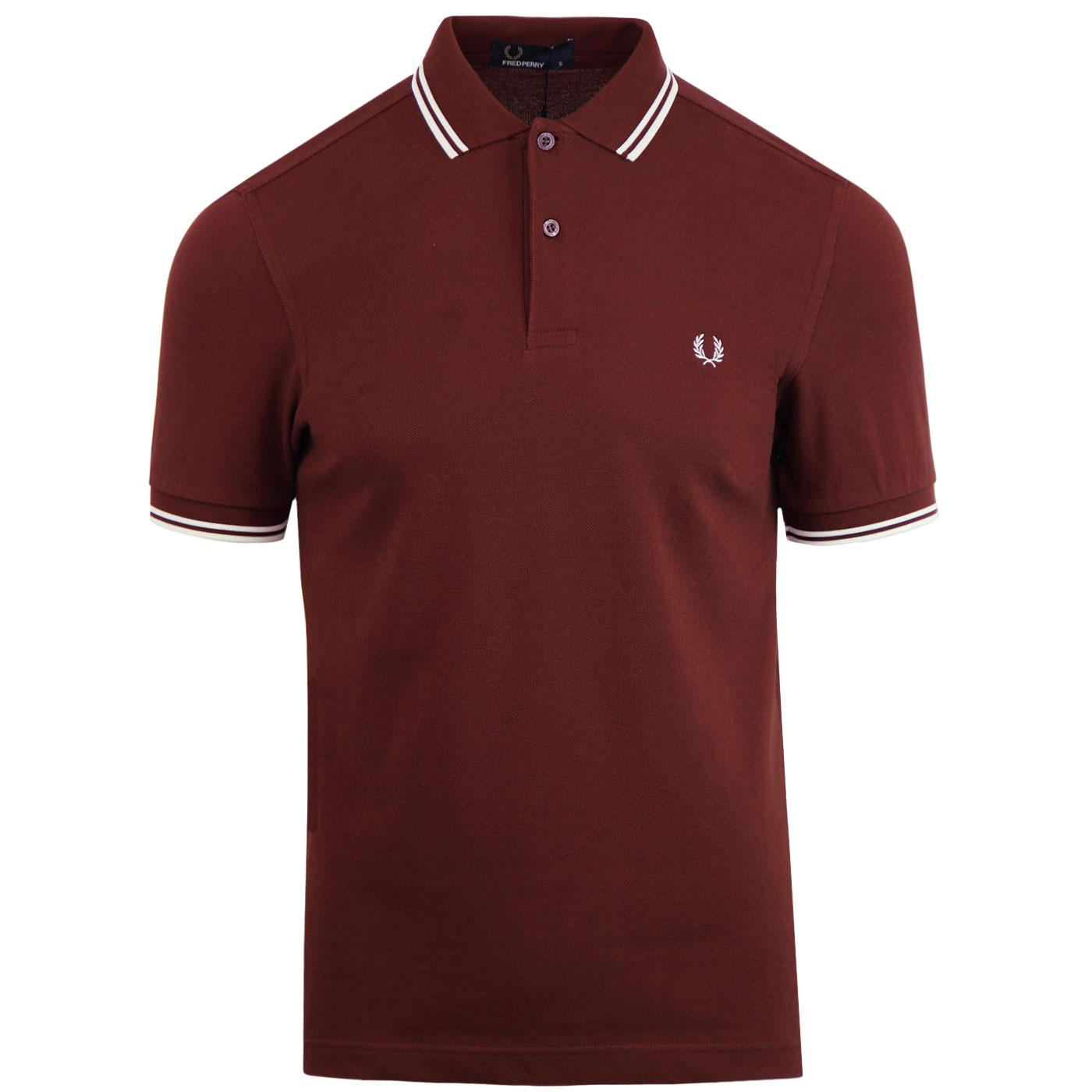FRED PERRY M3600 Mod Twin Tipped Polo Shirt (SR)