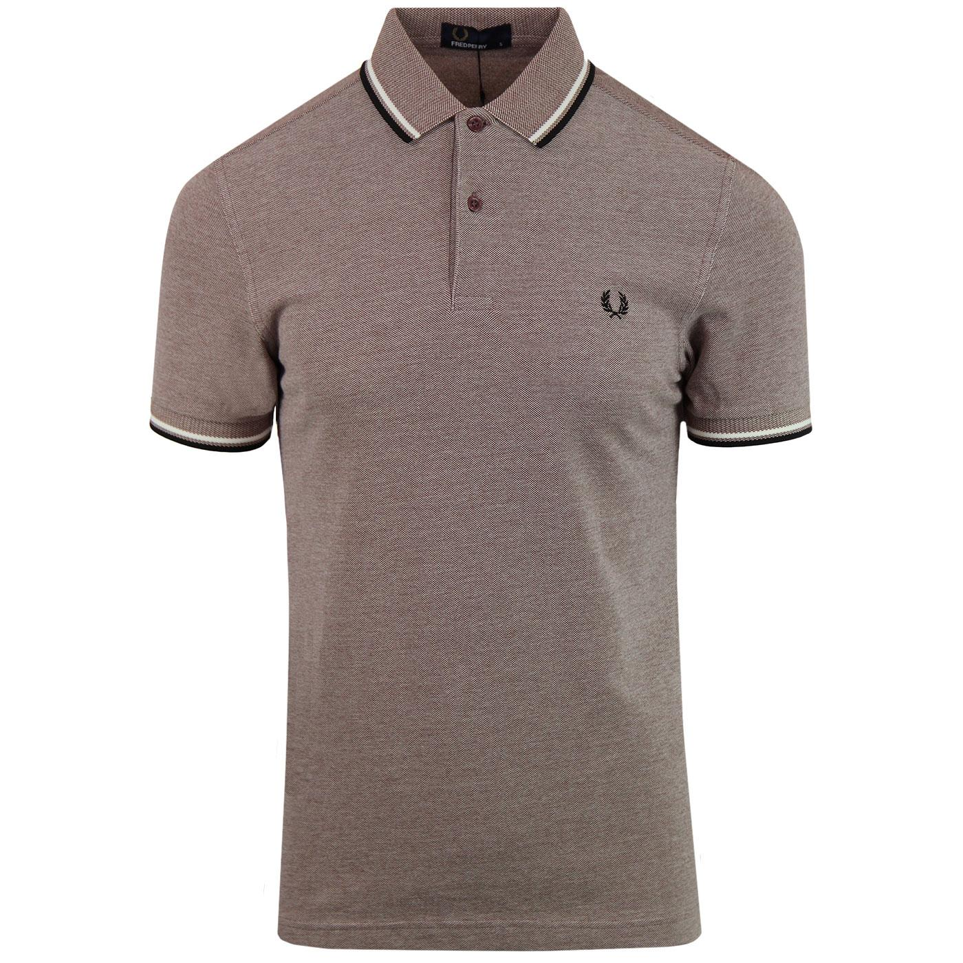 FRED PERRY M3600 Mod Twin Tipped Polo Shirt (SRO)
