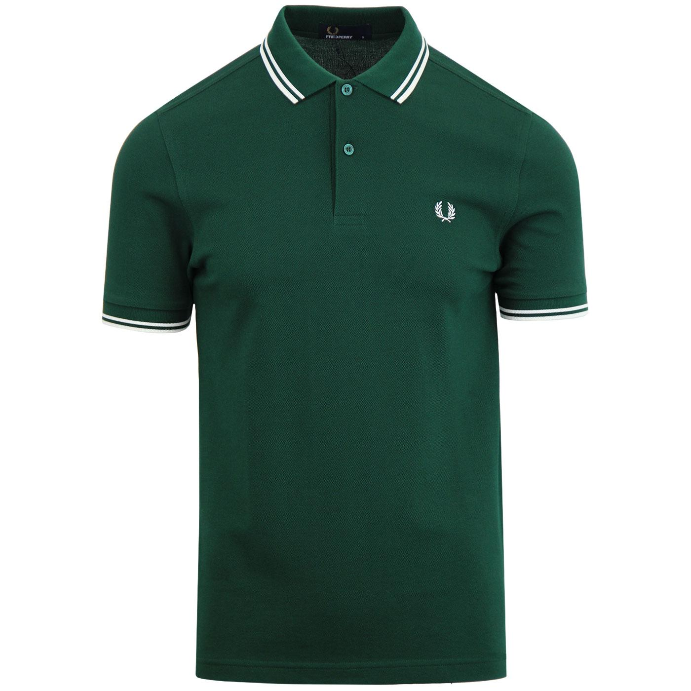 FRED PERRY M3600 Mod Twin Tipped Polo Shirt (Ivy)