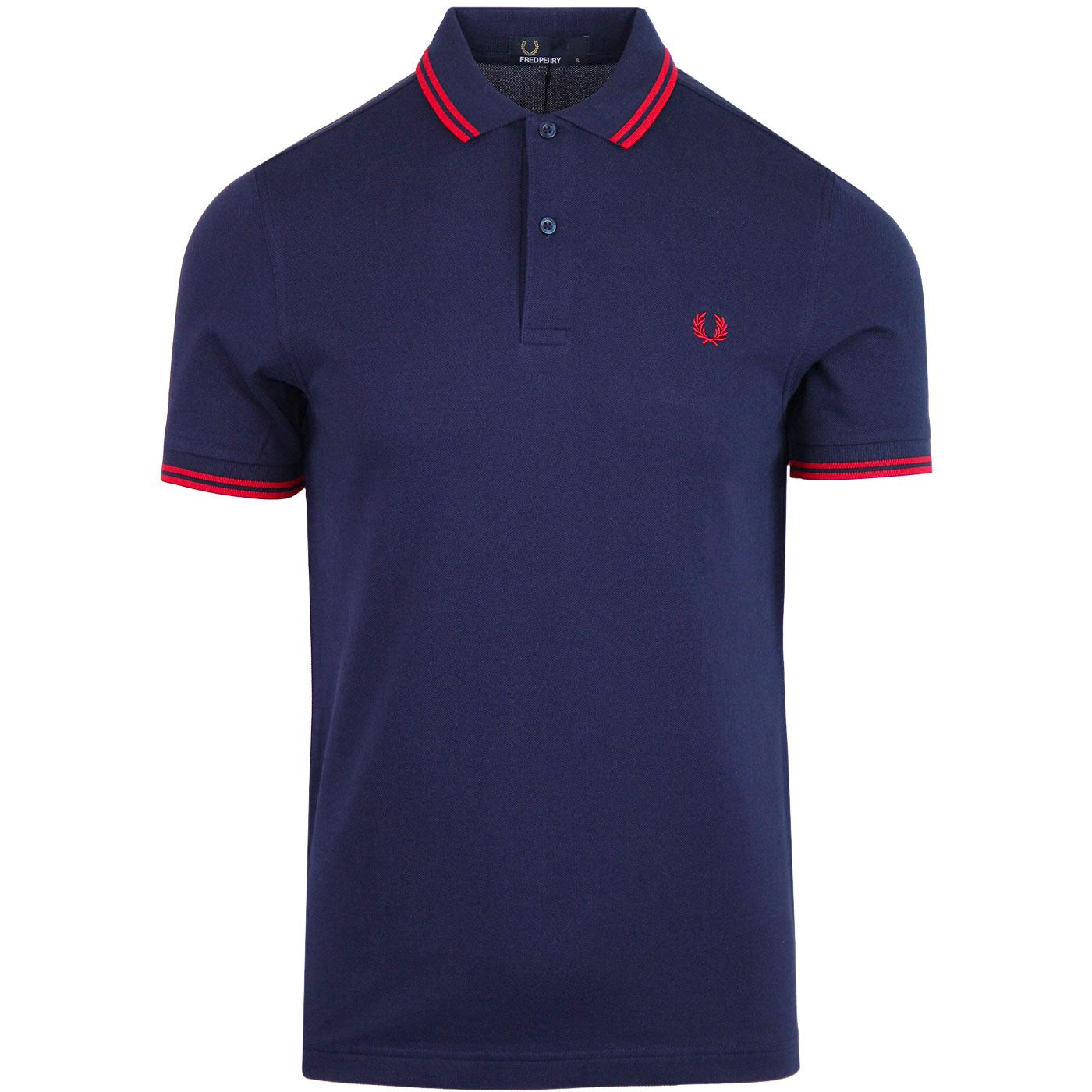 FRED PERRY M3600 Mod Twin Tipped Polo Shirt CARBON