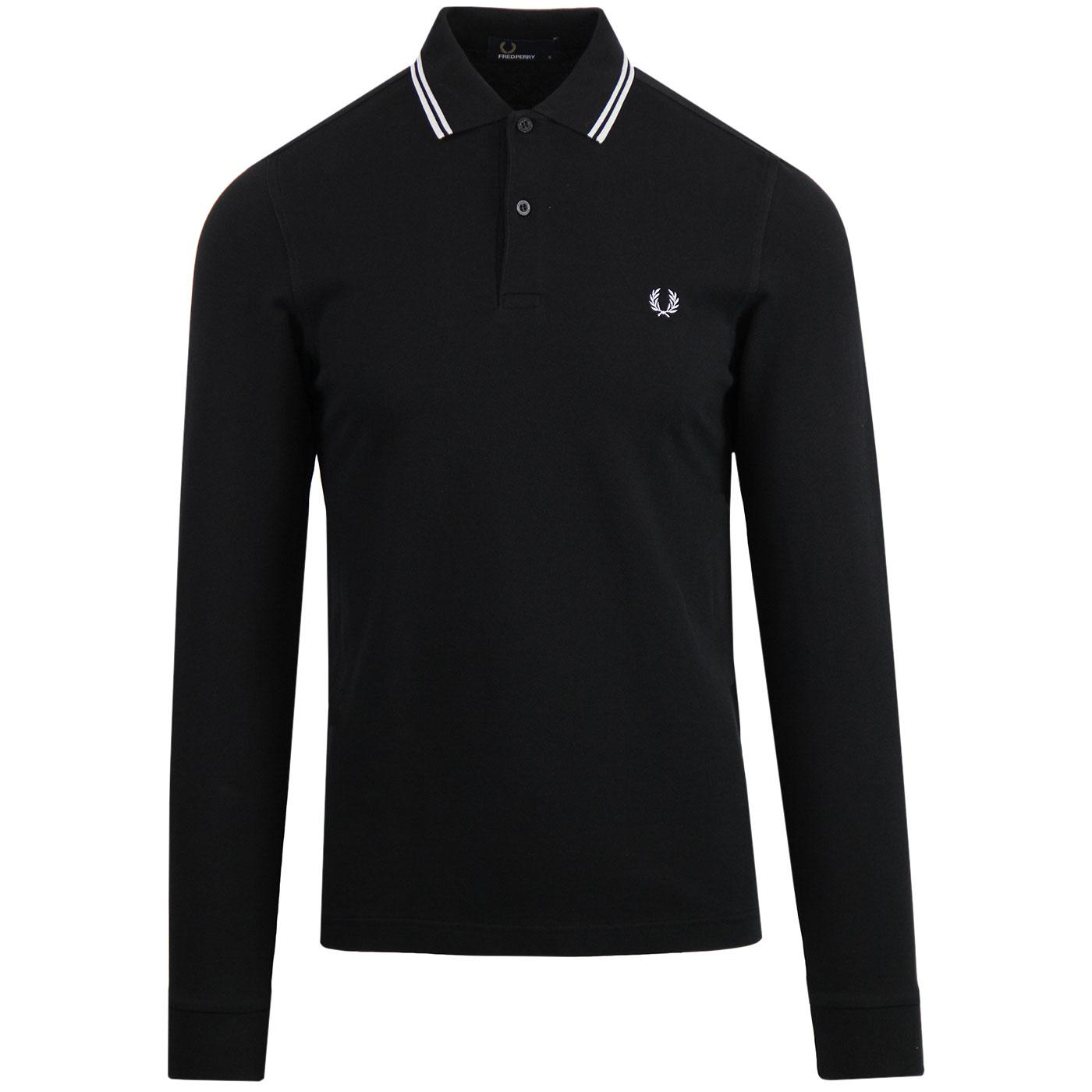 FRED PERRY Mod Twin Tipped Long Sleeve Polo (BP)