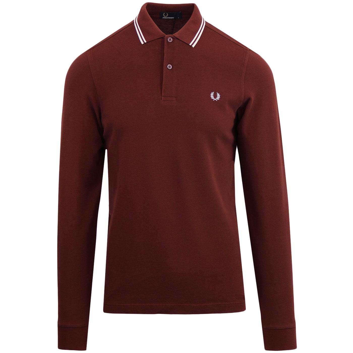 FRED PERRY Mod Twin Tipped Long Sleeve Polo (SR)