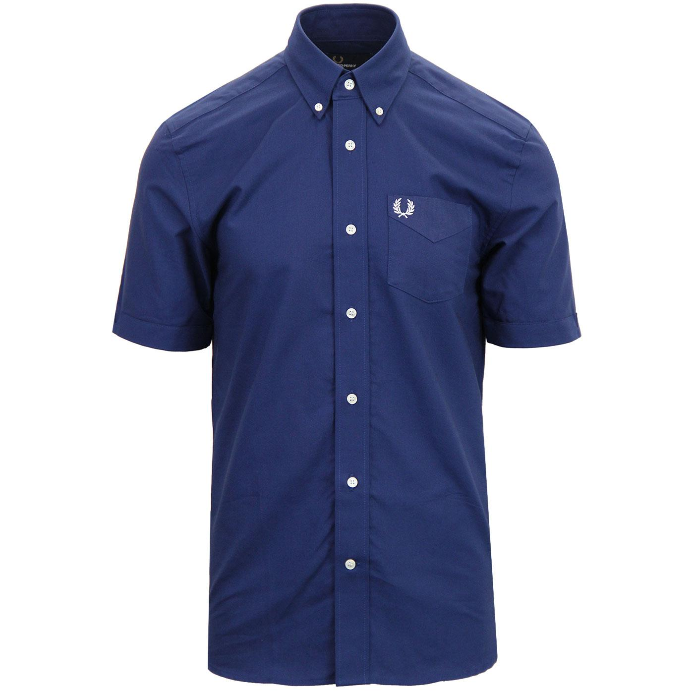 FRED PERRY Retro Mod Classic S/S Oxford Shirt FN