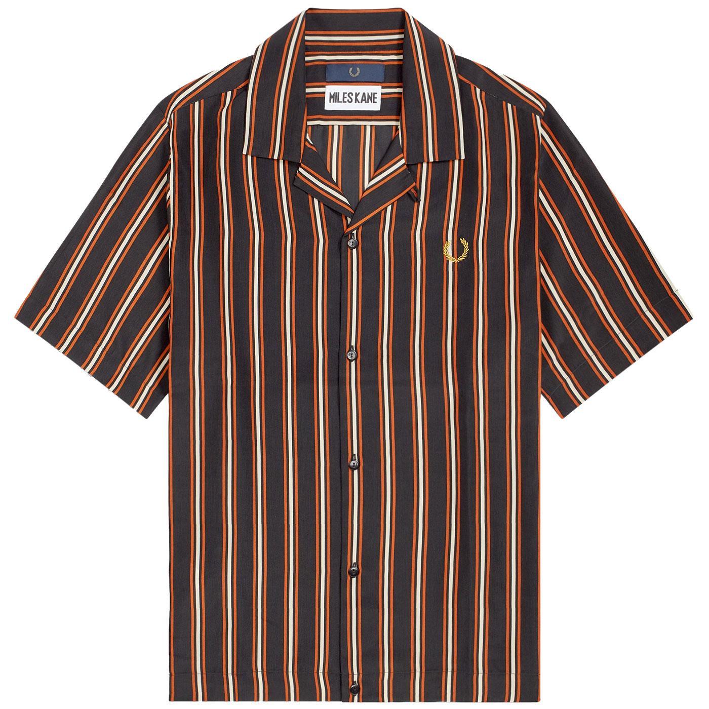 FRED PERRY X MILES KANE Mod Stripe Bowling Shirt
