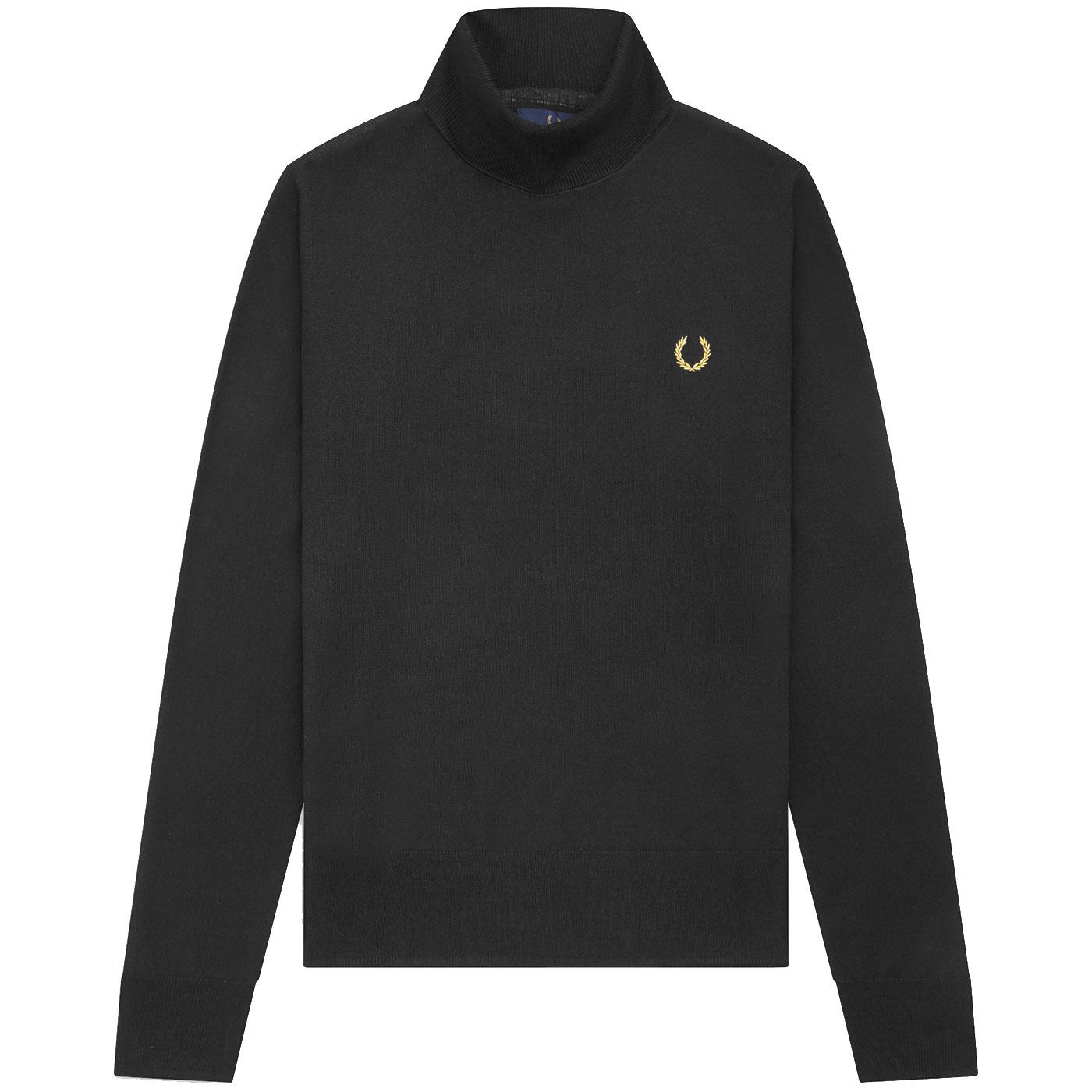 FRED PERRY X MILES KANE Mod Roll Neck Jumper