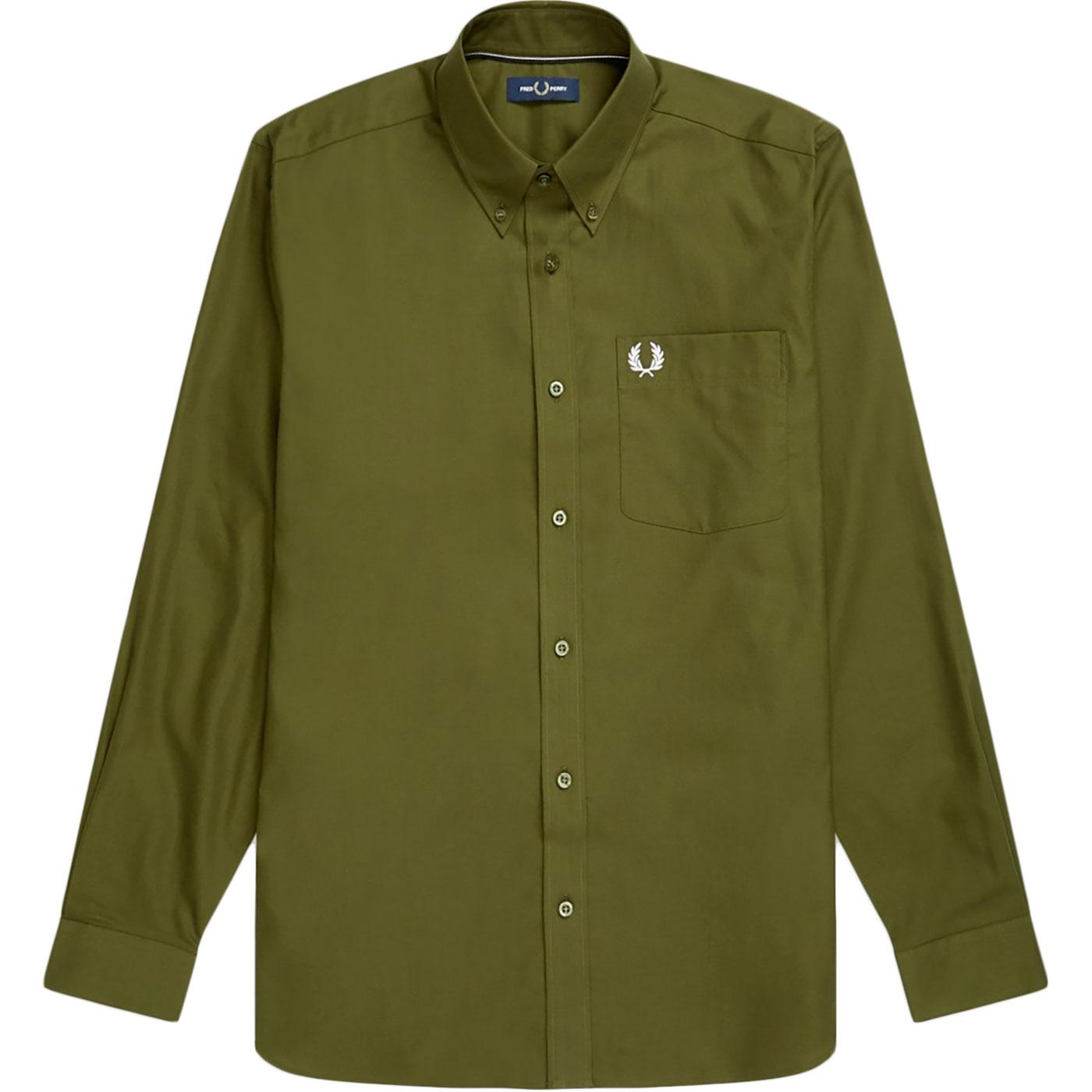 FRED PERRY Retro Mod Button Down Oxford Shirt DT