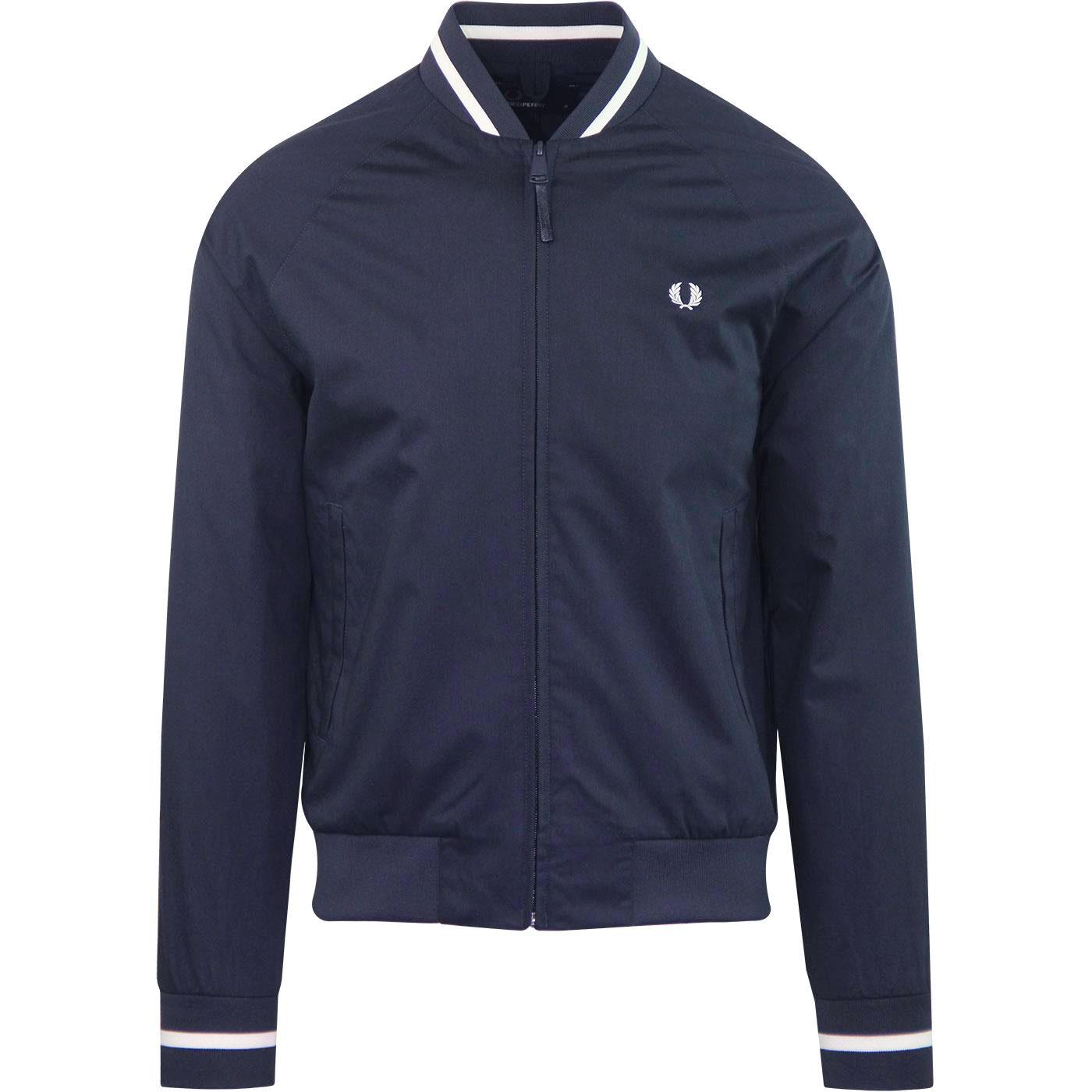 FRED PERRY Retro Mod Tennis Bomber Jacket (NAVY)