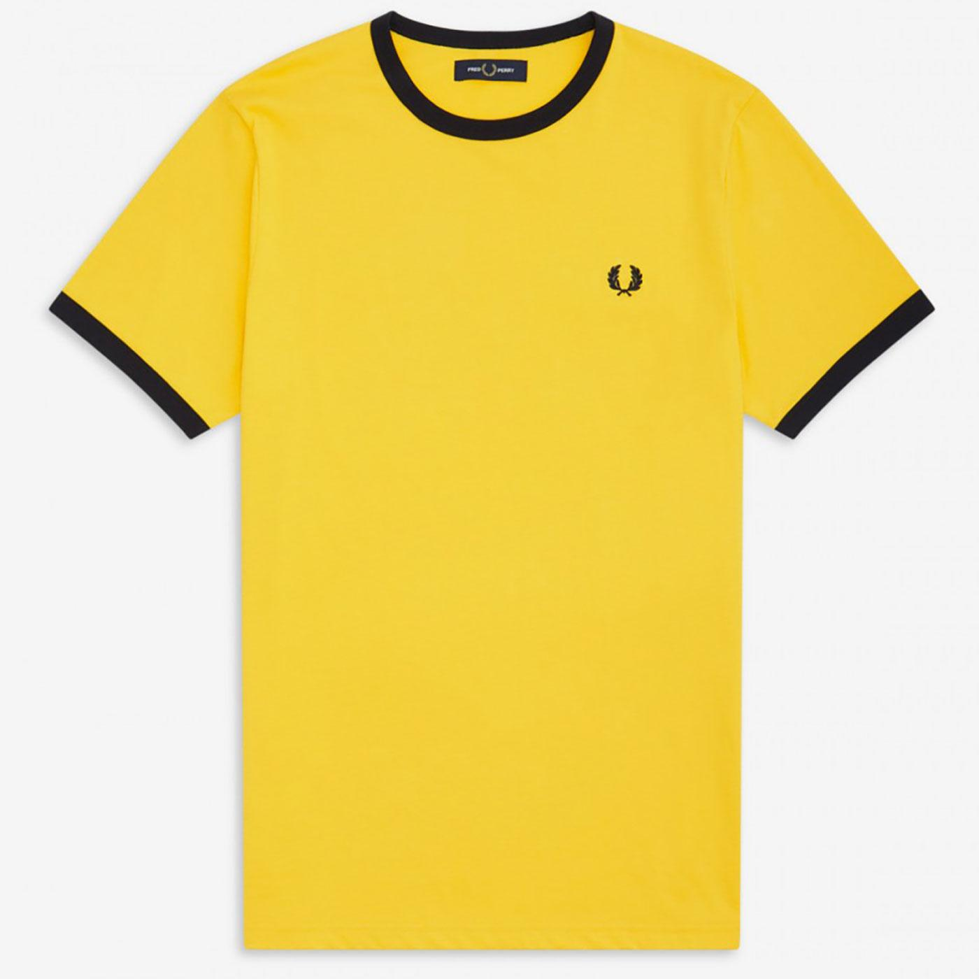 FRED PERRY Retro Mod Crew Neck Ringer Tee SUNGLOW