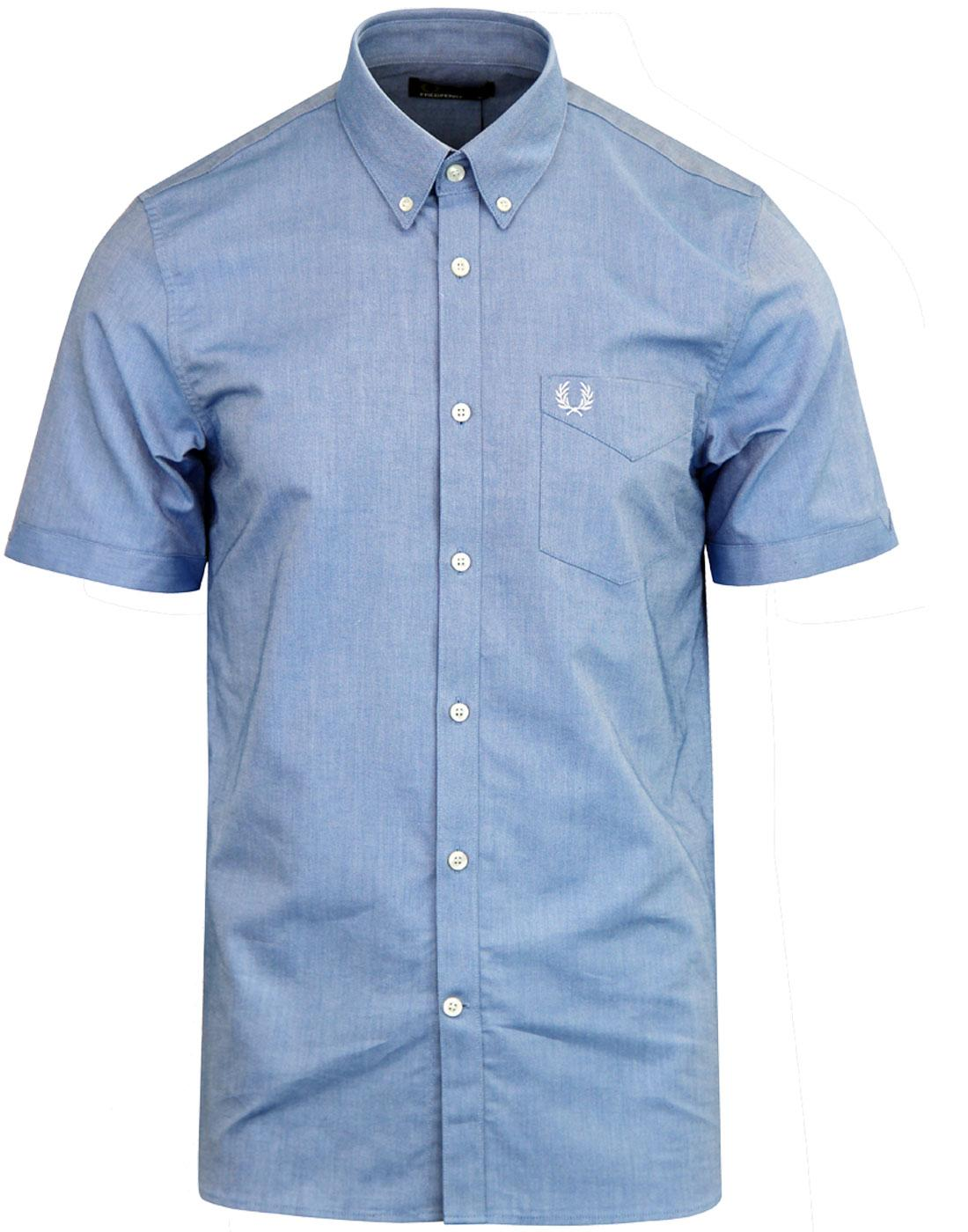 M3531 FRED PERRY Oxford Shirt Mid Blue
