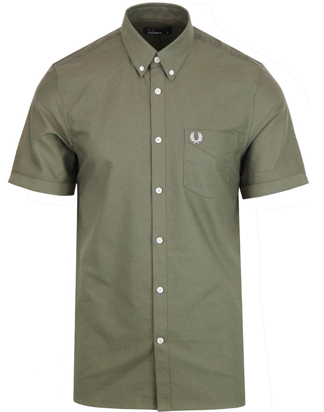 M3531 FRED PERRY OXFORD SHIRT NETTLE