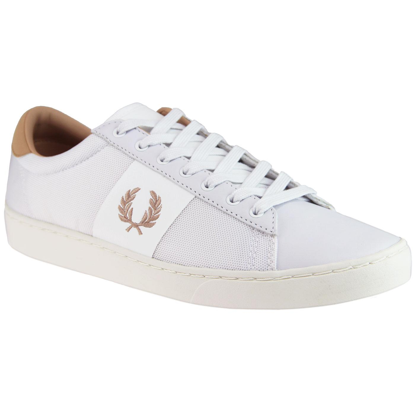 Spencer FRED PERRY Retro Mesh Leather Trainers W