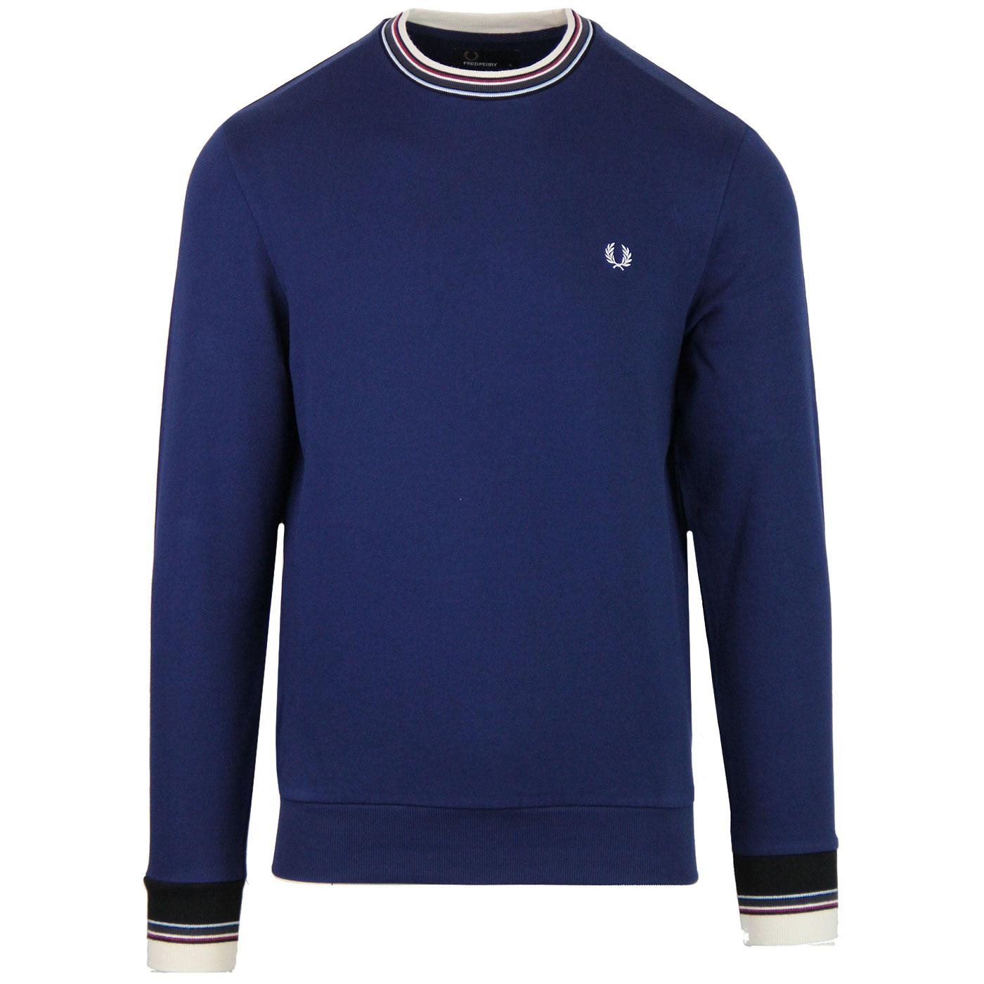 FRED PERRY Retro Mod Bold Tipped Crew Sweatshirt