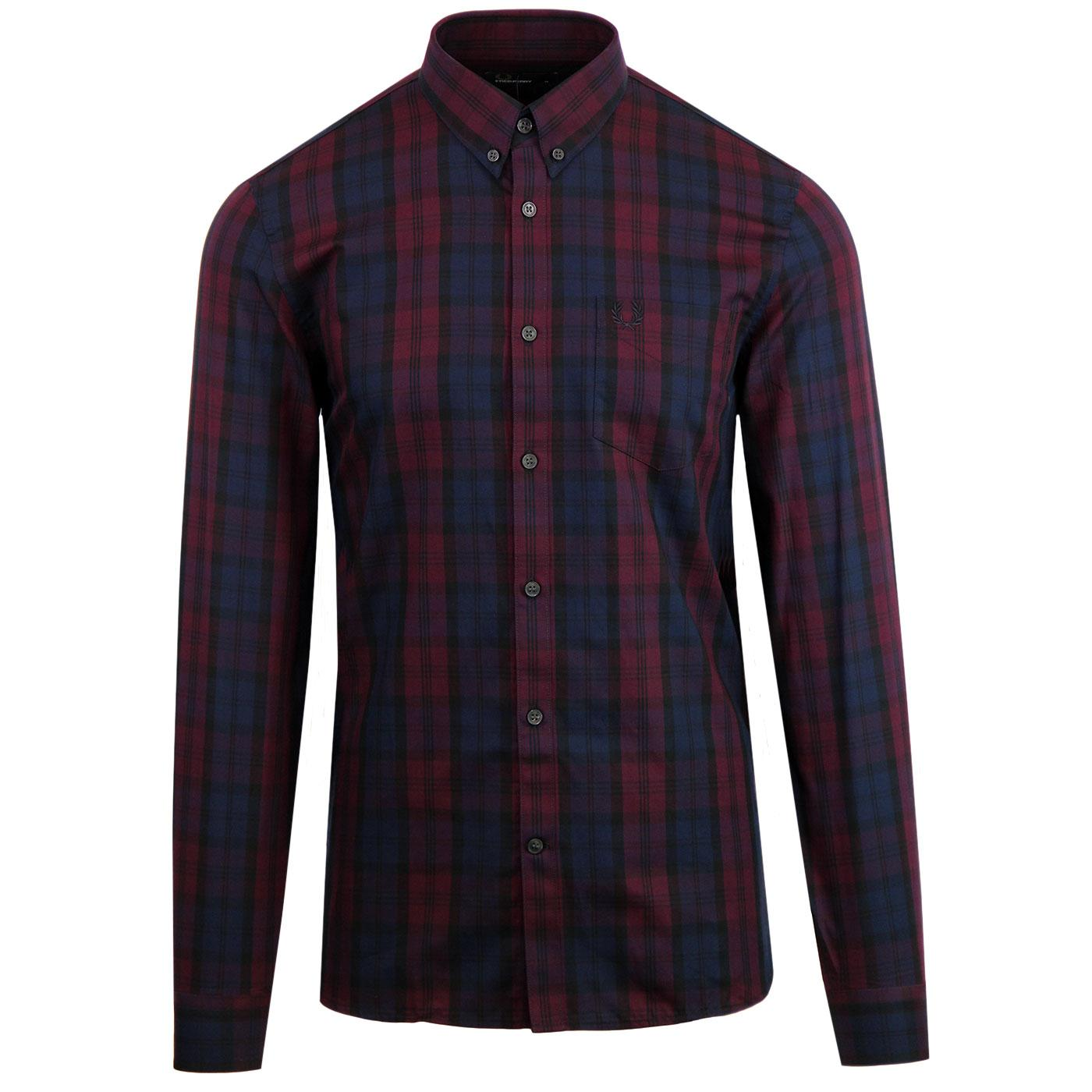 FRED PERRY 60s Mod Button Down Winter Tartan Shirt