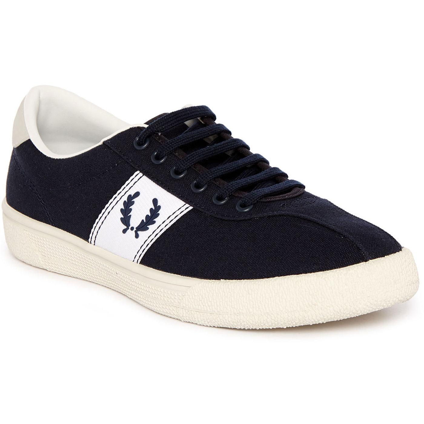 Fred Perry Mens Retro 70s Tennis Shoes In Navy
