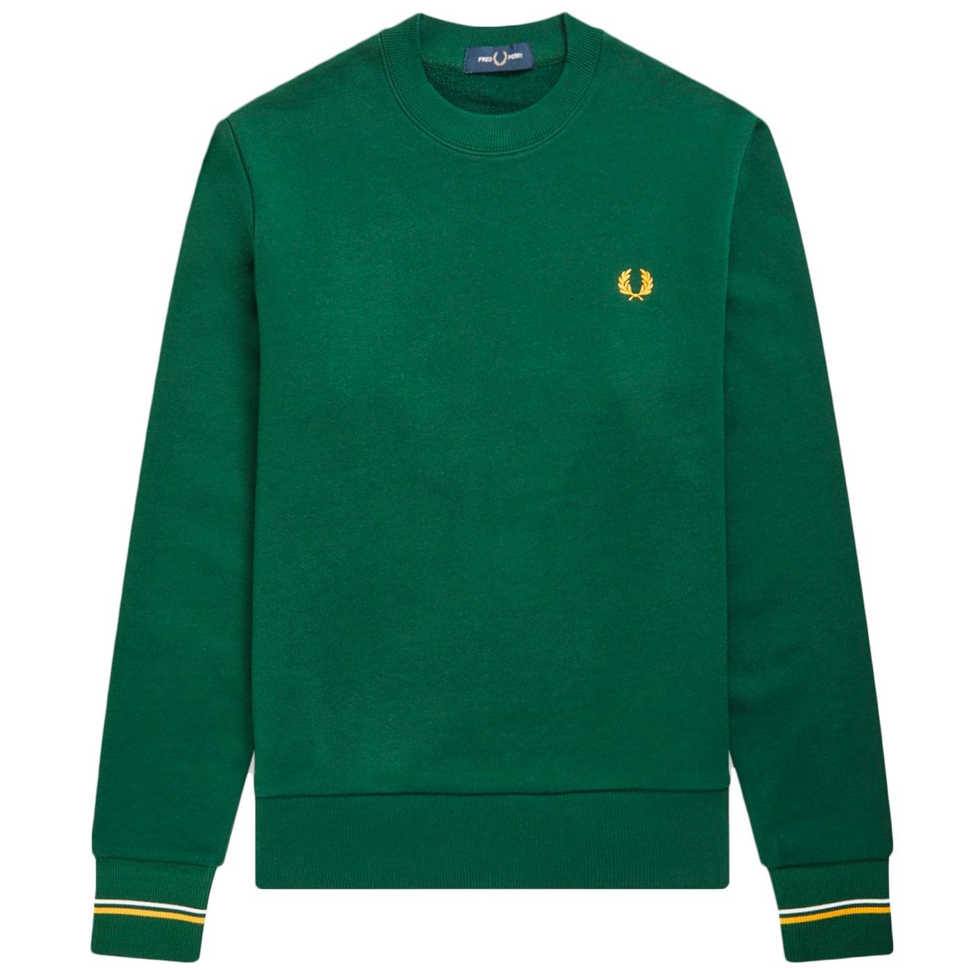 FRED PERRY Mens Classic Retro Crew Neck Sweatshirt