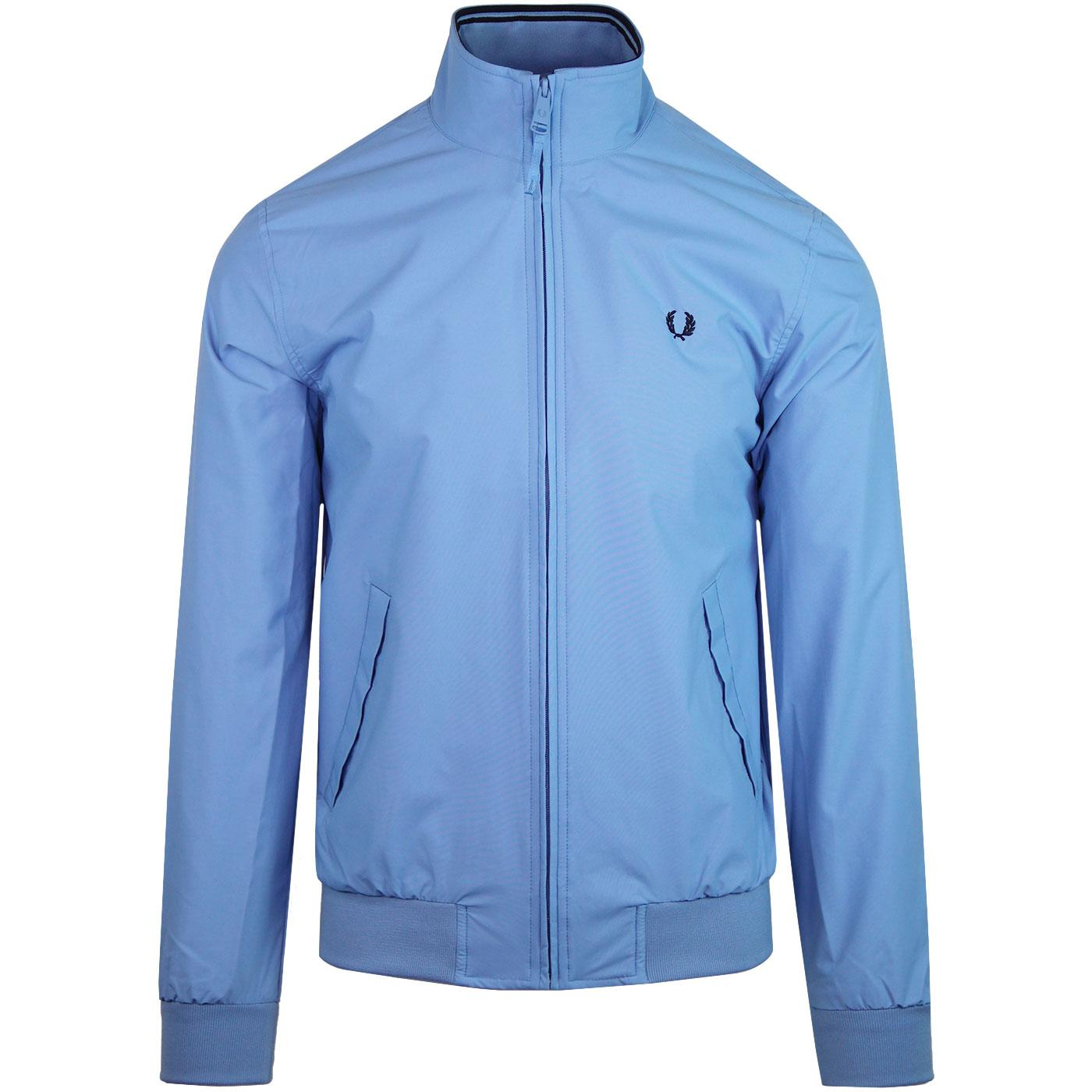 Brentham FRED PERRY Tipped Harrington Jacket (Sky)