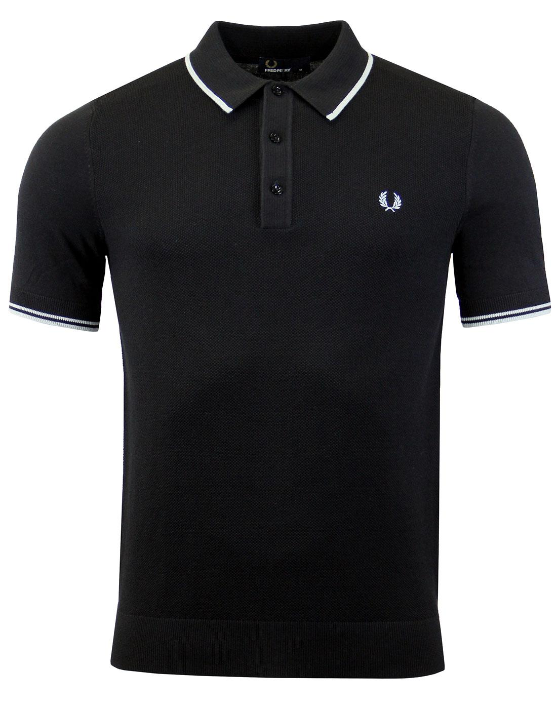 FRED PERRY Tipped Knitted Polo K7200 Black