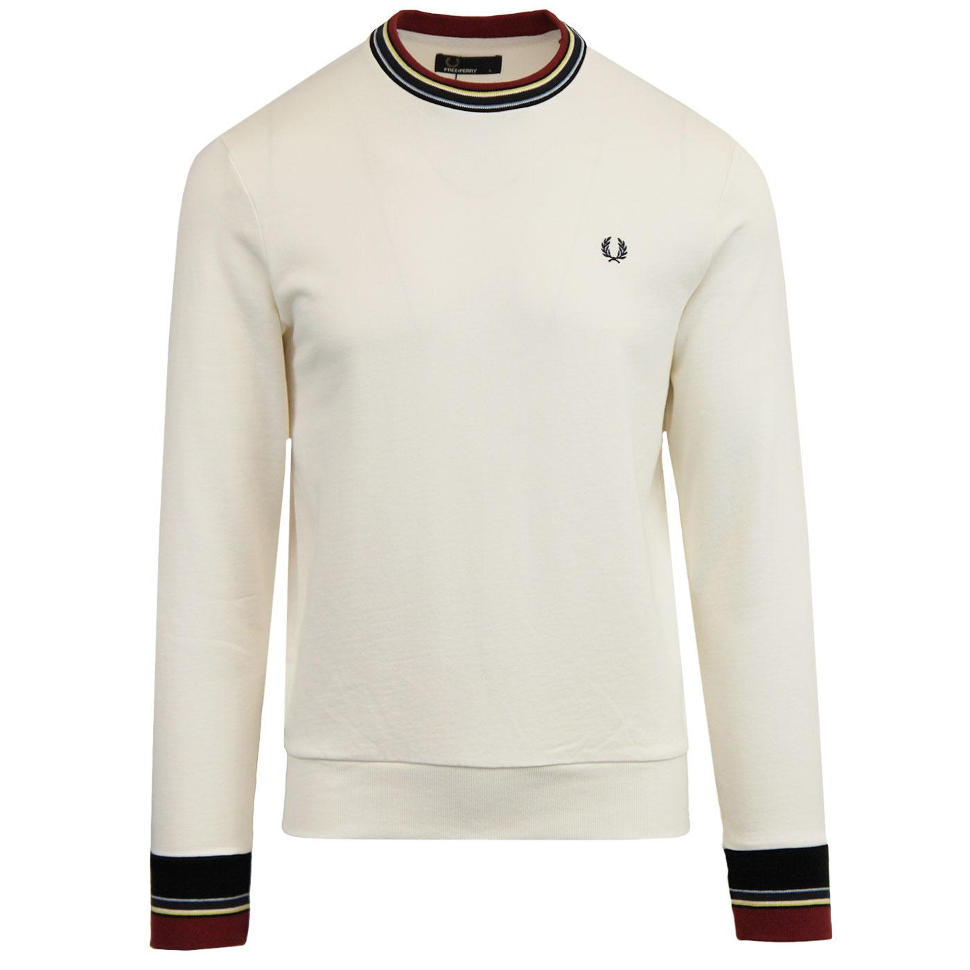 FRED PERRY Retro Mod Bold Tipped Crew Sweater SW
