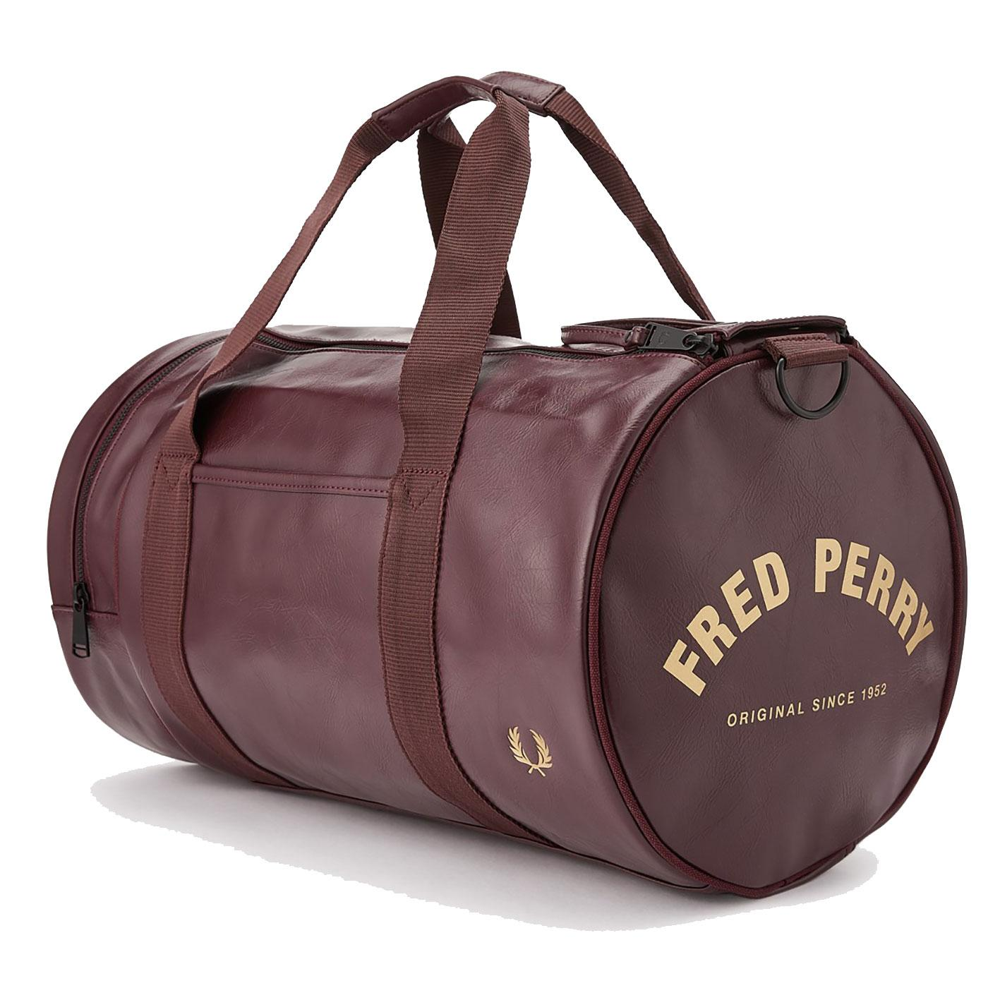 FRED PERRY Retro Mod PU Tonal Barrel Bag PORT