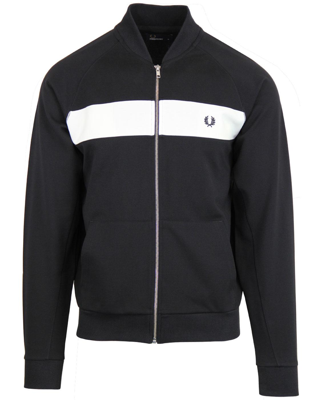 J3528 Fred Perry reverse tricot track jacket black