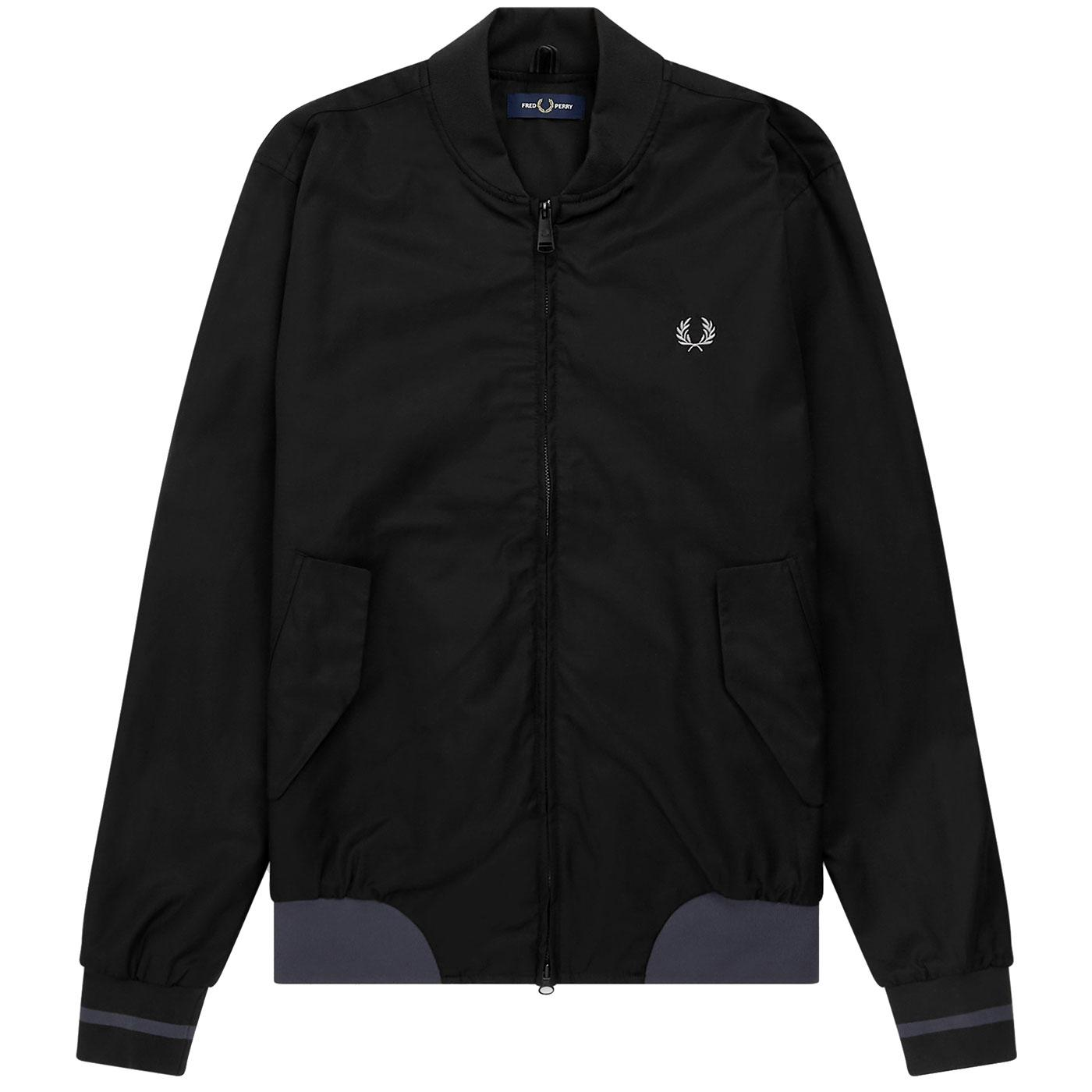 FRED PERRY Men's Retro Mod Twill Bomber Jacket (B)