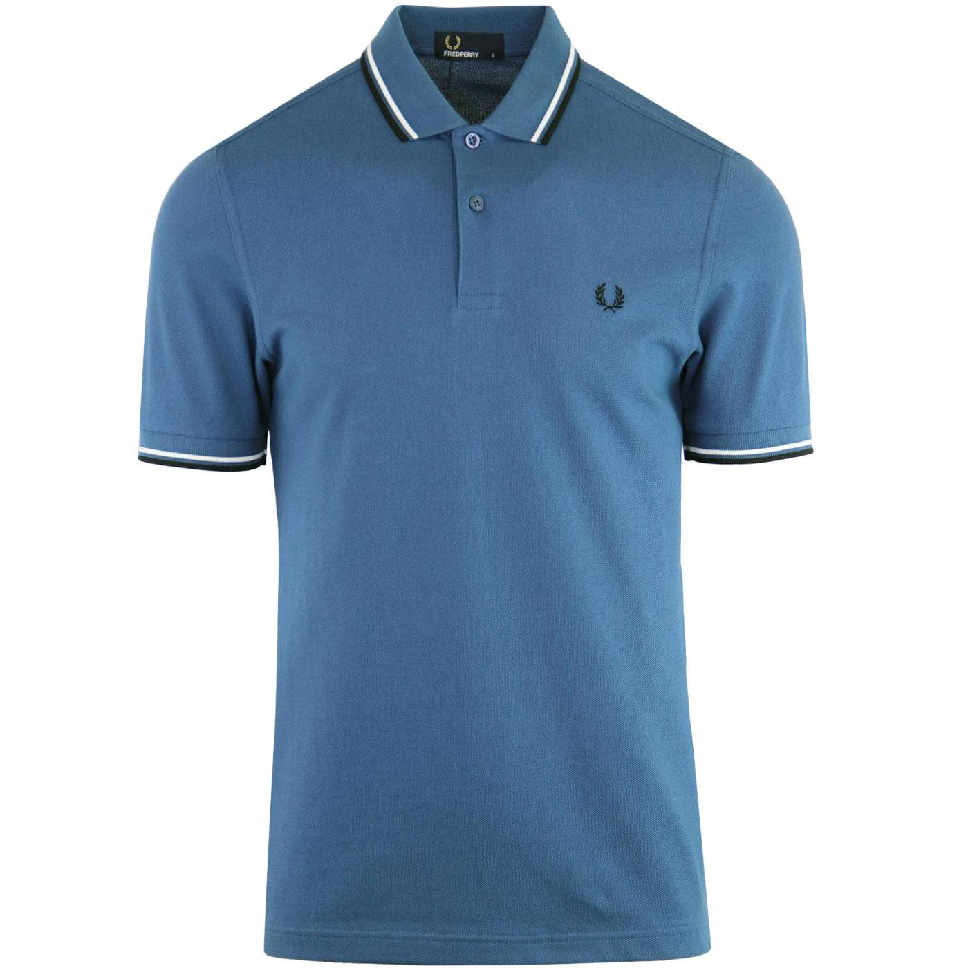 FRED PERRY M3600 Mod Twin Tipped Polo Shirt (MB)