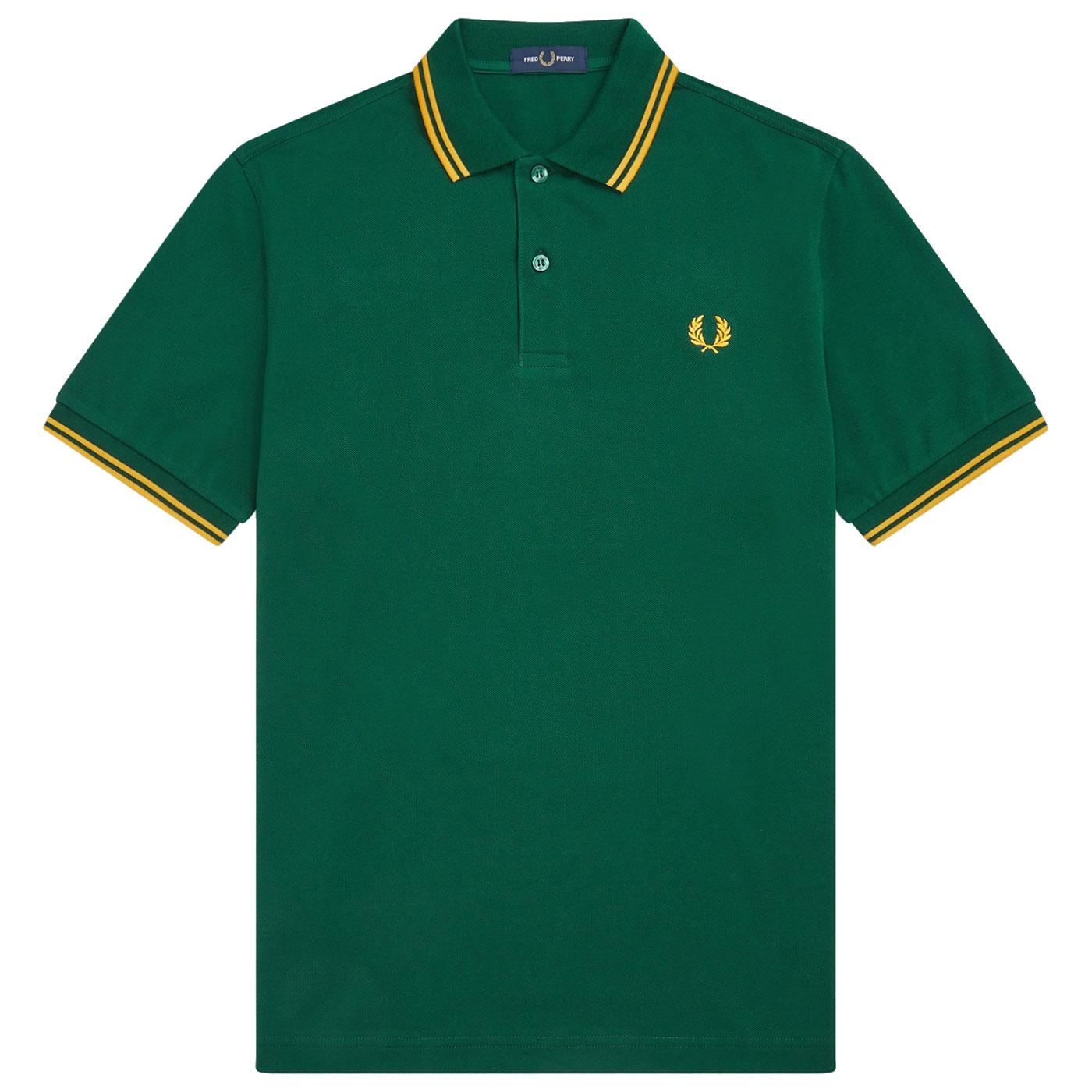 FRED PERRY M3600 Mod Twin Tipped Pique Polo IVY