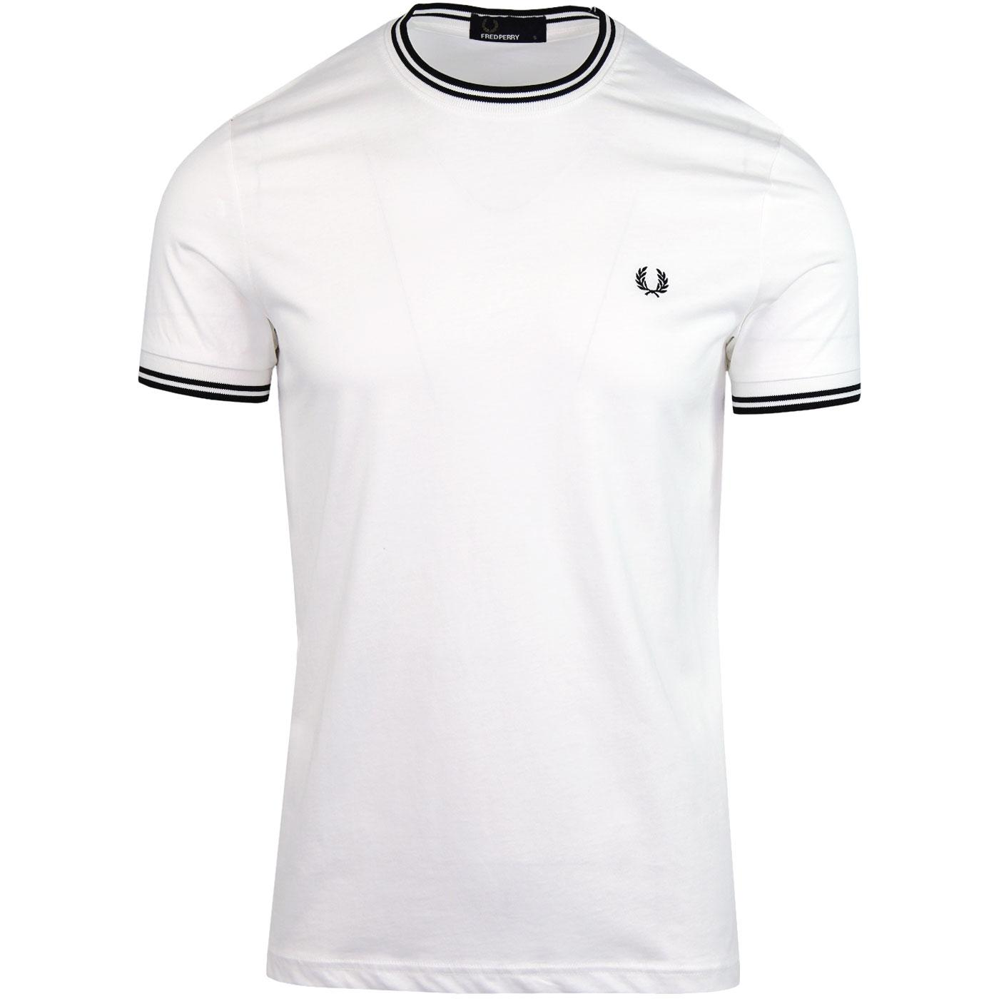 FRED PERRY Retro Mod Twin Tipped Crew T-shirt (SW)