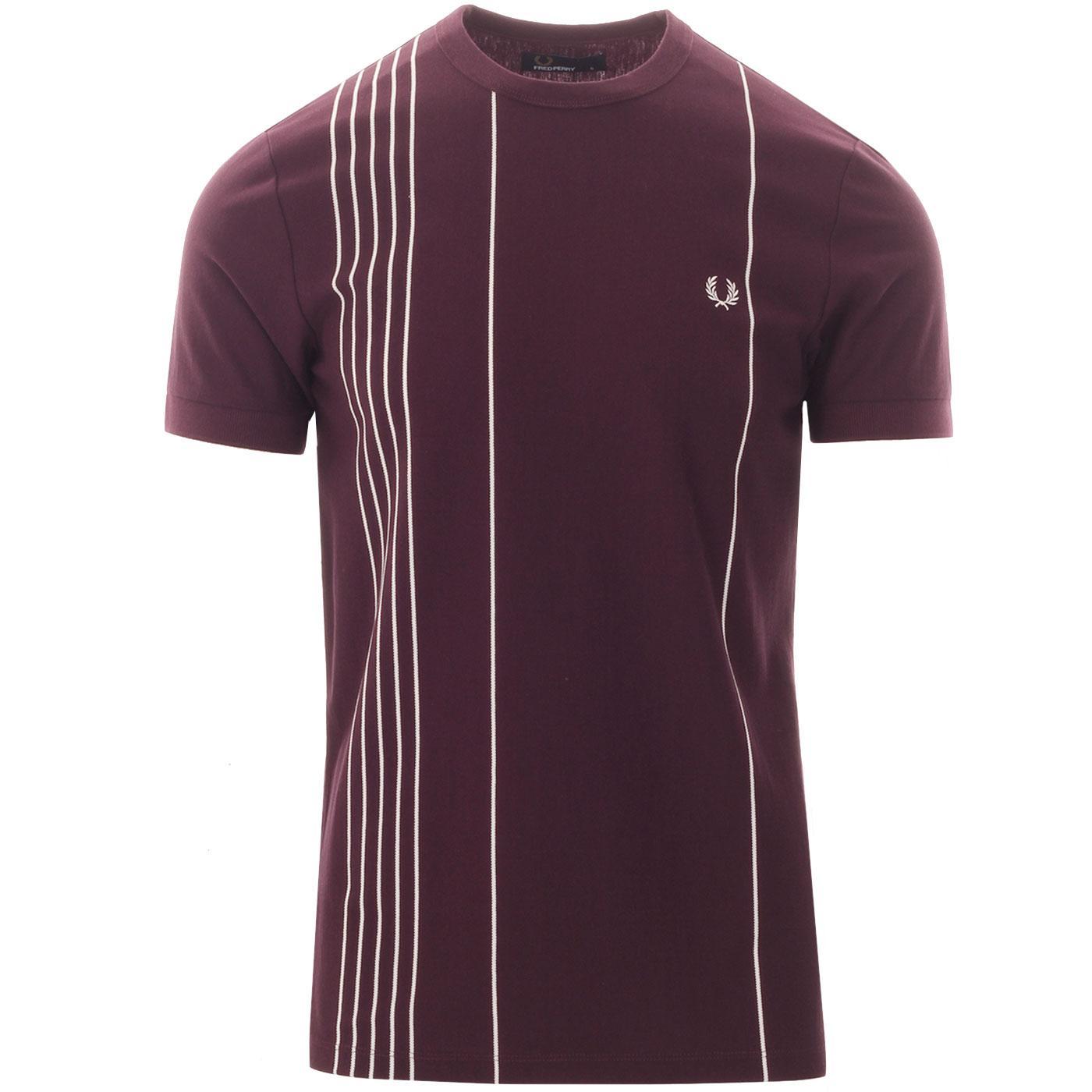 FRED PERRY Men's Vertical Stripe Pique T-Shirt