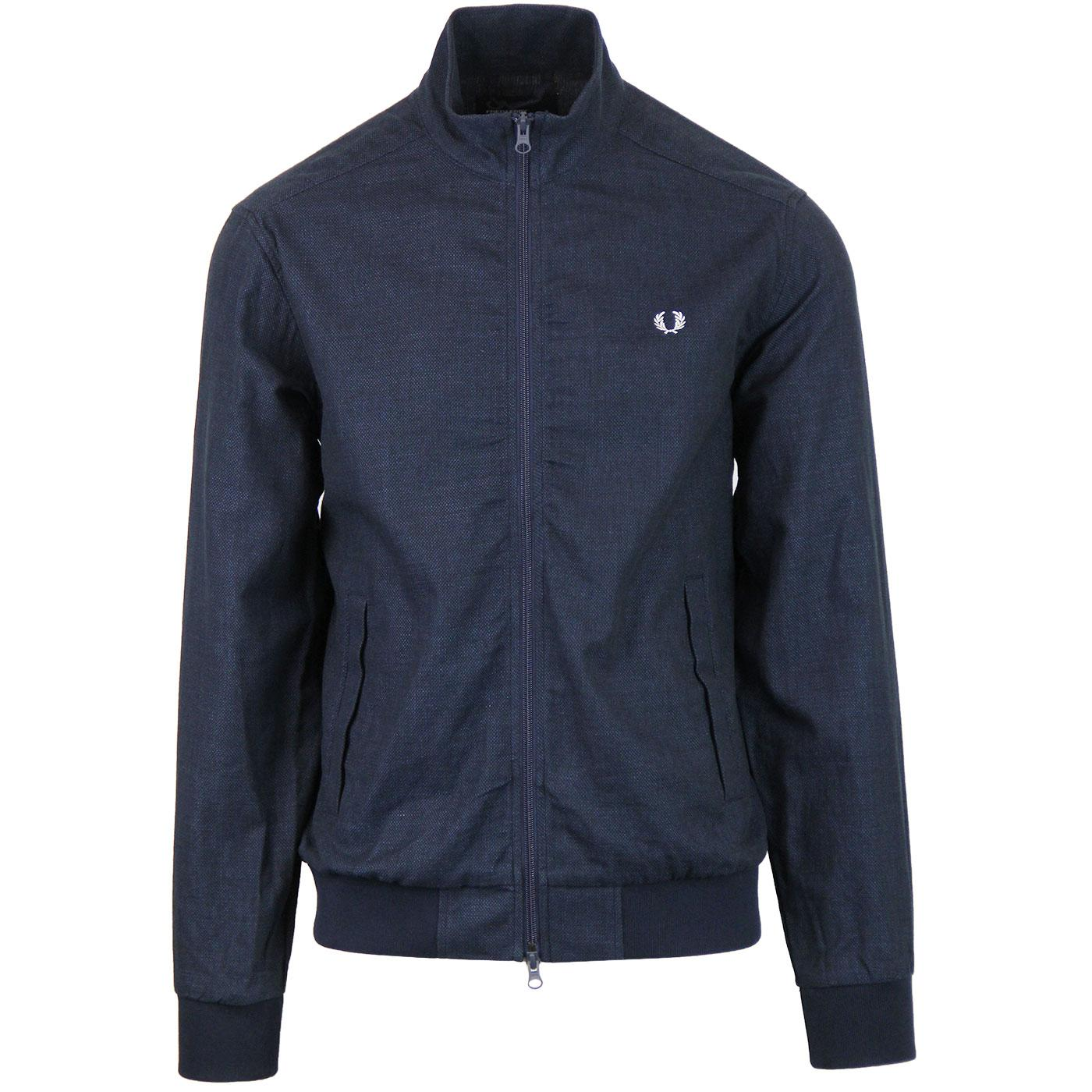 FRED PERRY Men's Retro Woven Textured Track Jacket