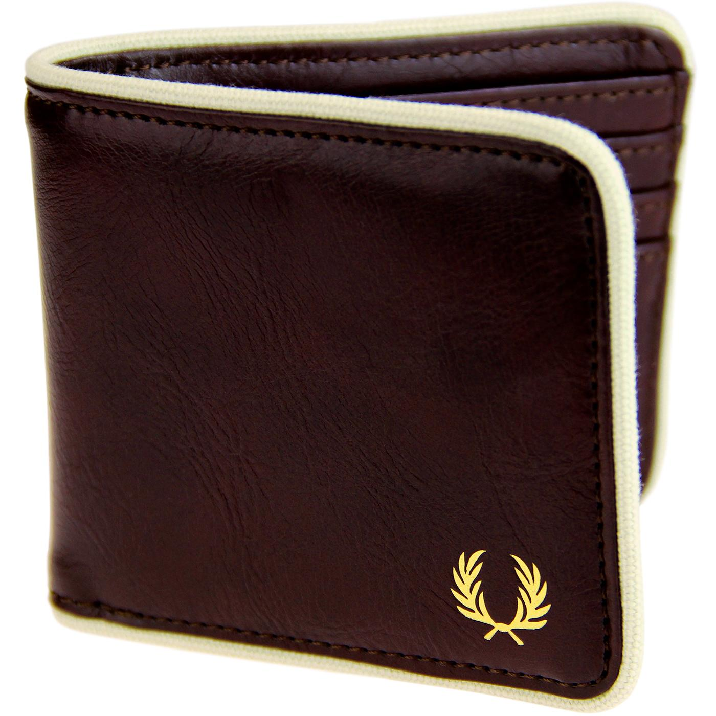 FRED PERRY Classic Logo Billfold Wallet - Port