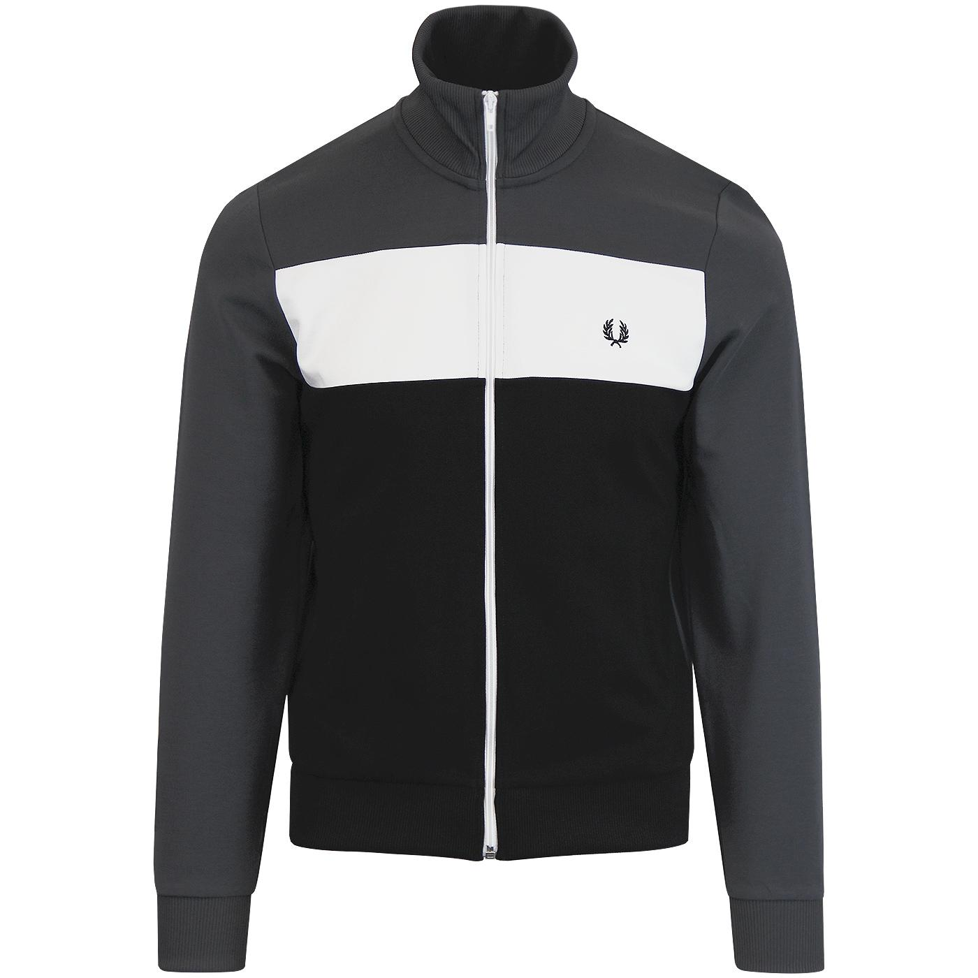 FRED PERRY Retro Colour Block Panel Track Jacket