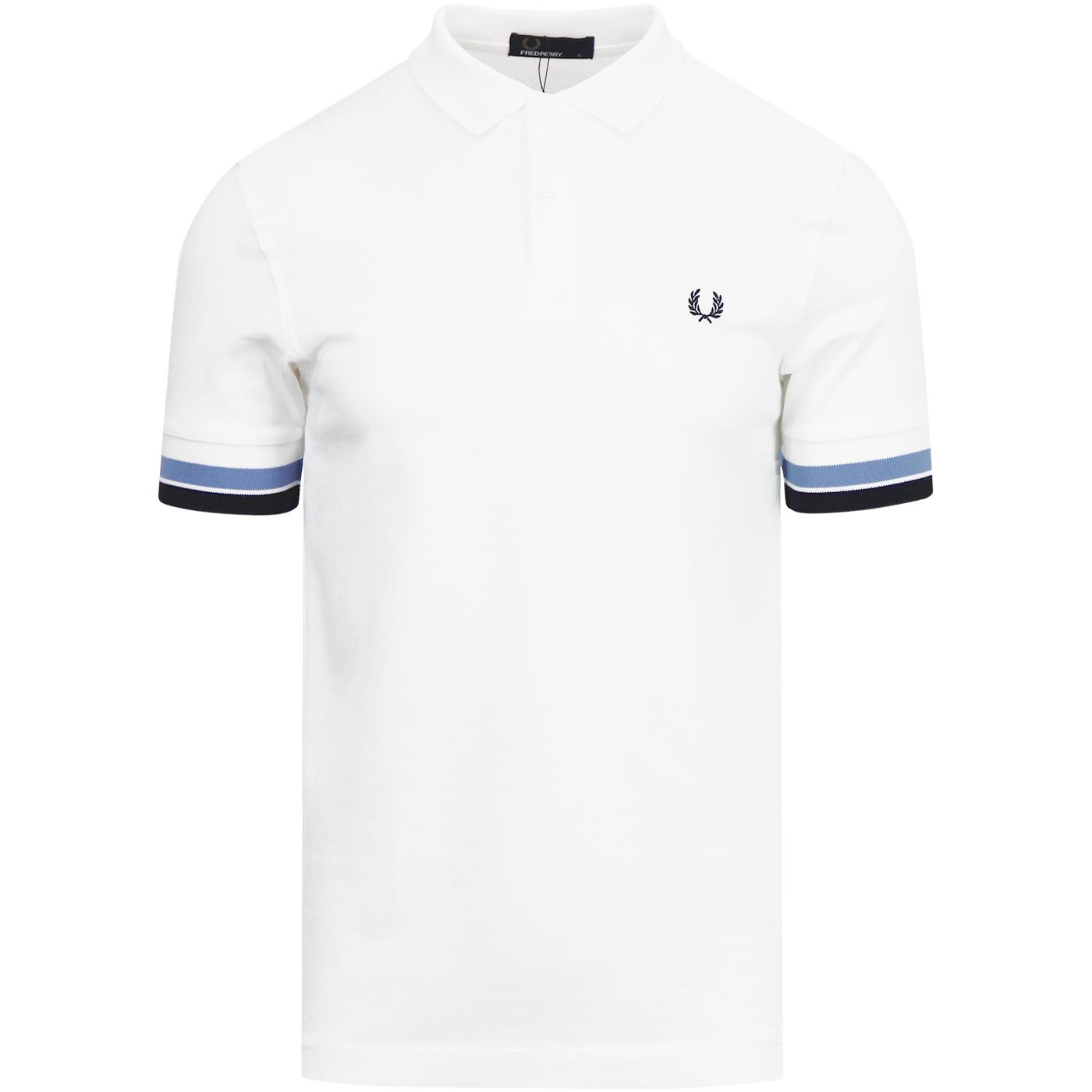 FRED PERRY Retro Mod Bold Cuff Stripe Polo Shirt