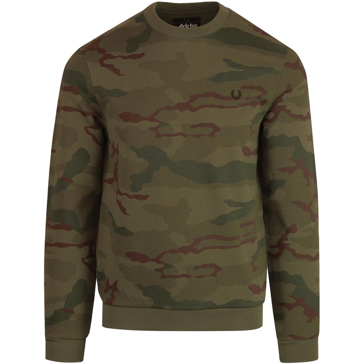 FRED PERRY X ARKTIS Retro Camouflage Sweatshirt
