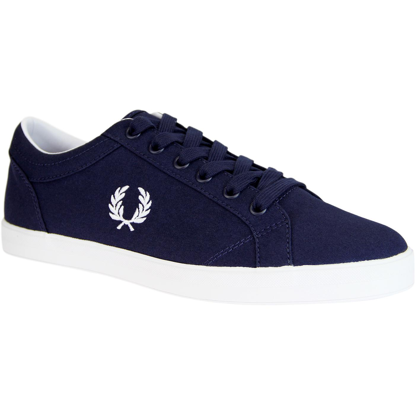 Baseline FRED PERRY Retro 70s Canvas Trainers (CB)