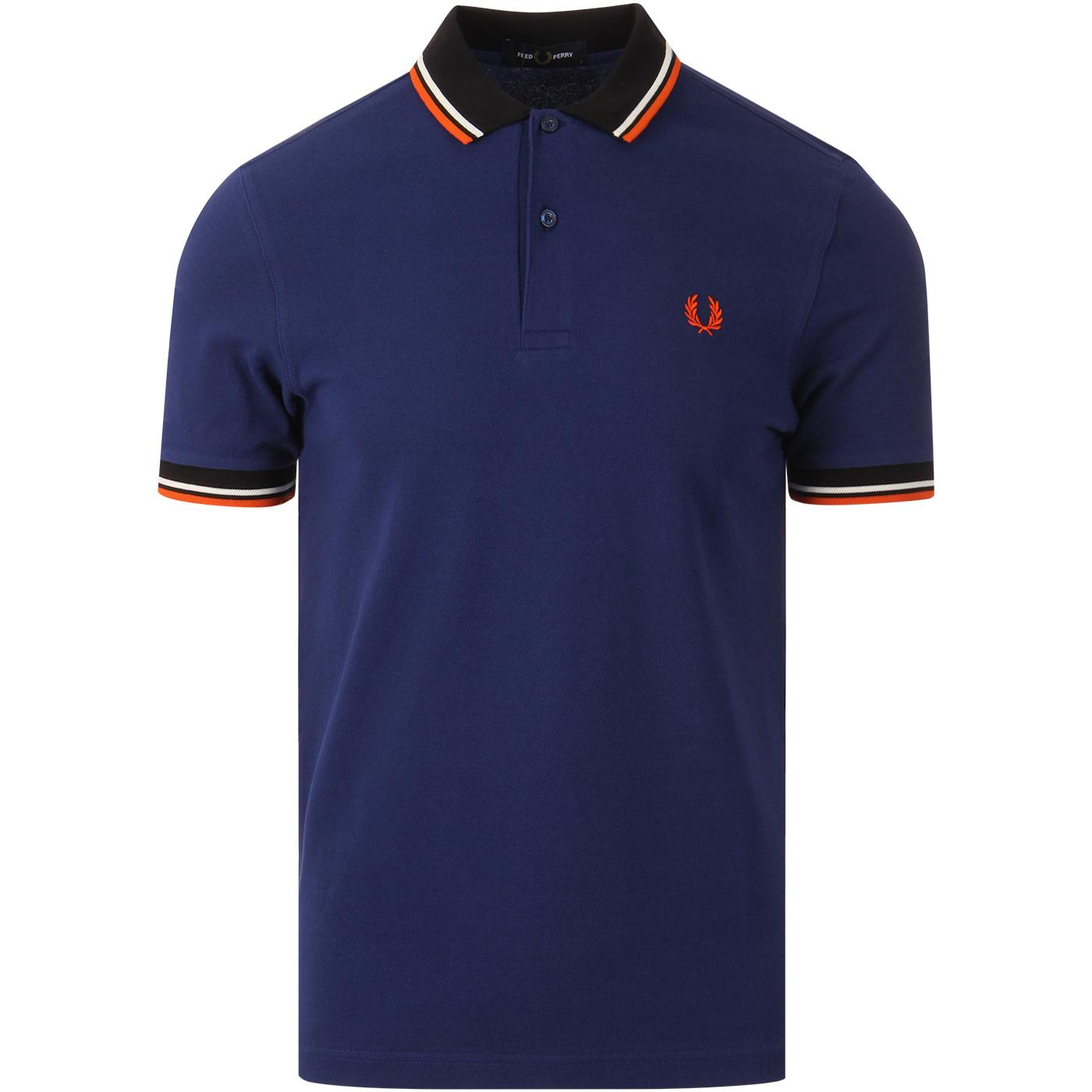 FRED PERRY Mod Twin Tipped Contrast Trim Polo (MB)