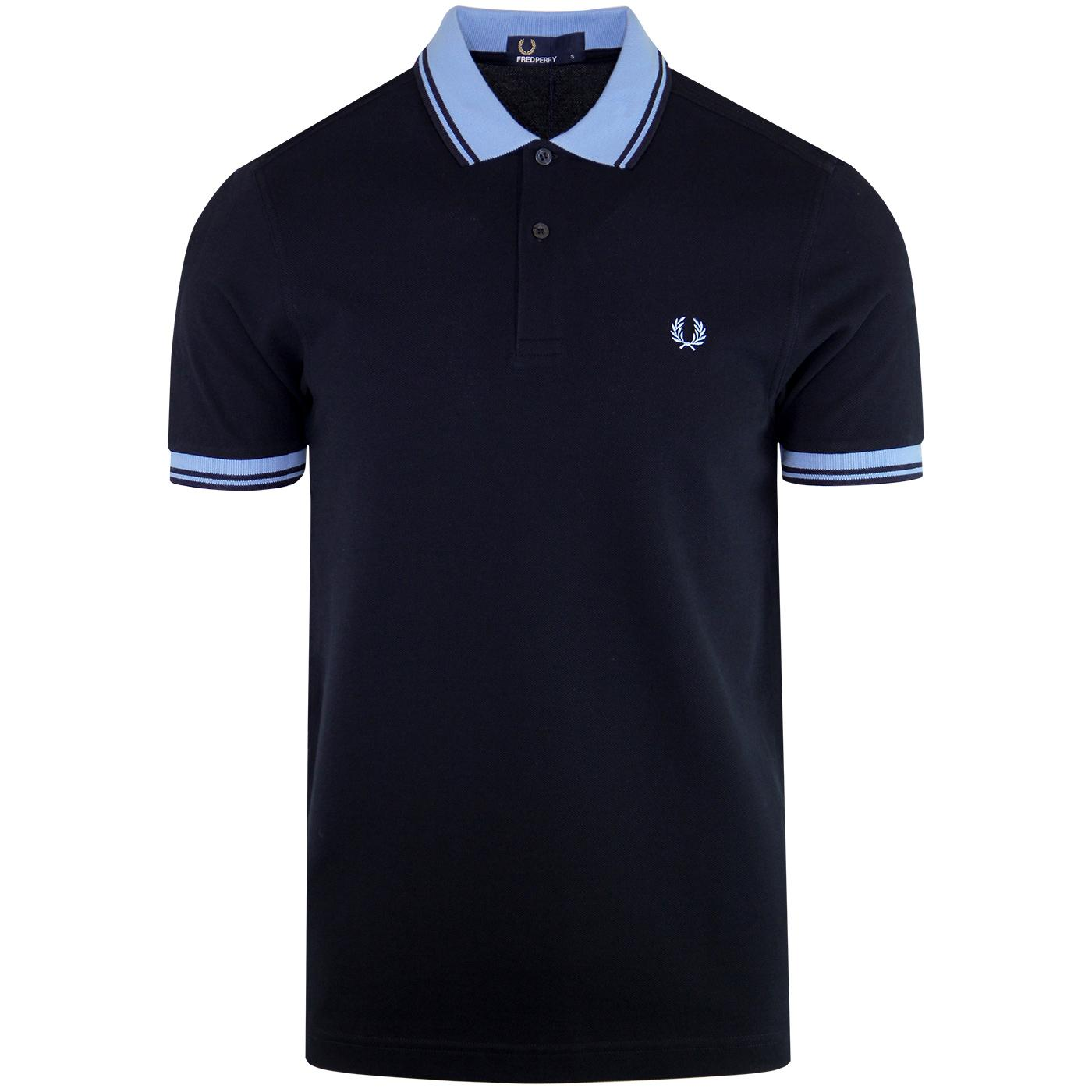 FRED PERRY Mod Twin Tipped Contrast Trim Polo (N)