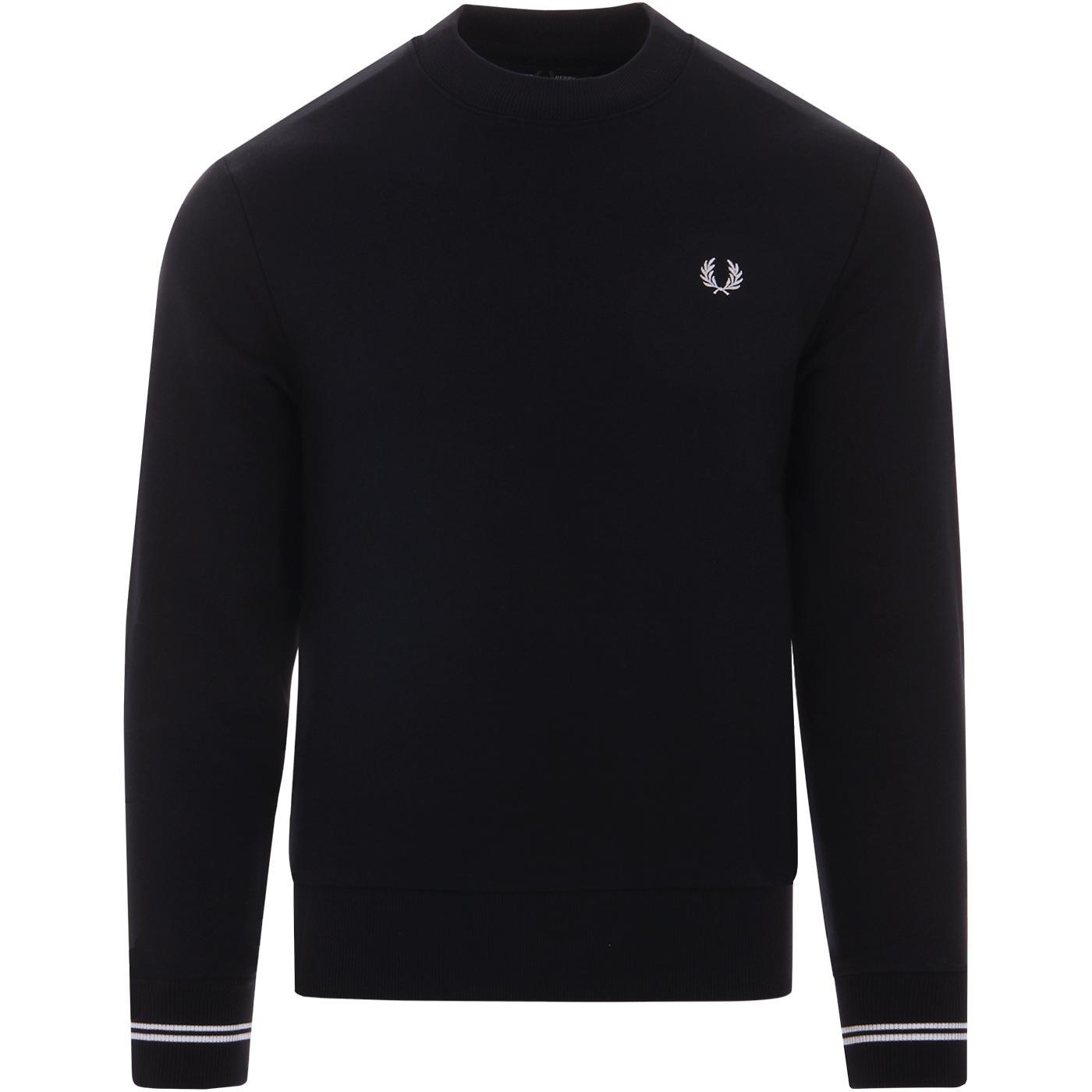 FRED PERRY Mens Classic Mod Crew Neck Sweatshirt N