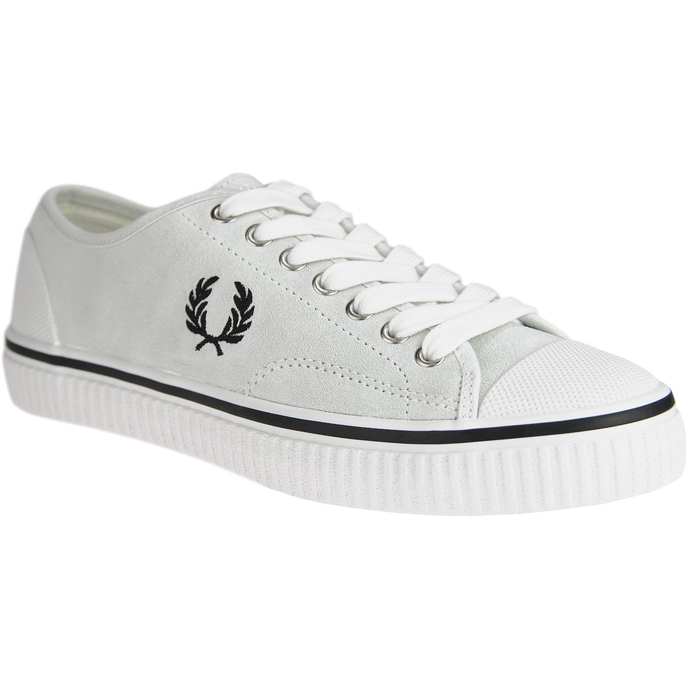 Hughes FRED PERRY Retro Low Suede Trainers (White)