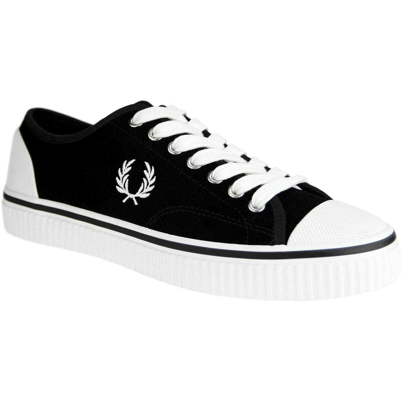 Hughes FRED PERRY Retro Low Suede Trainers (Black)
