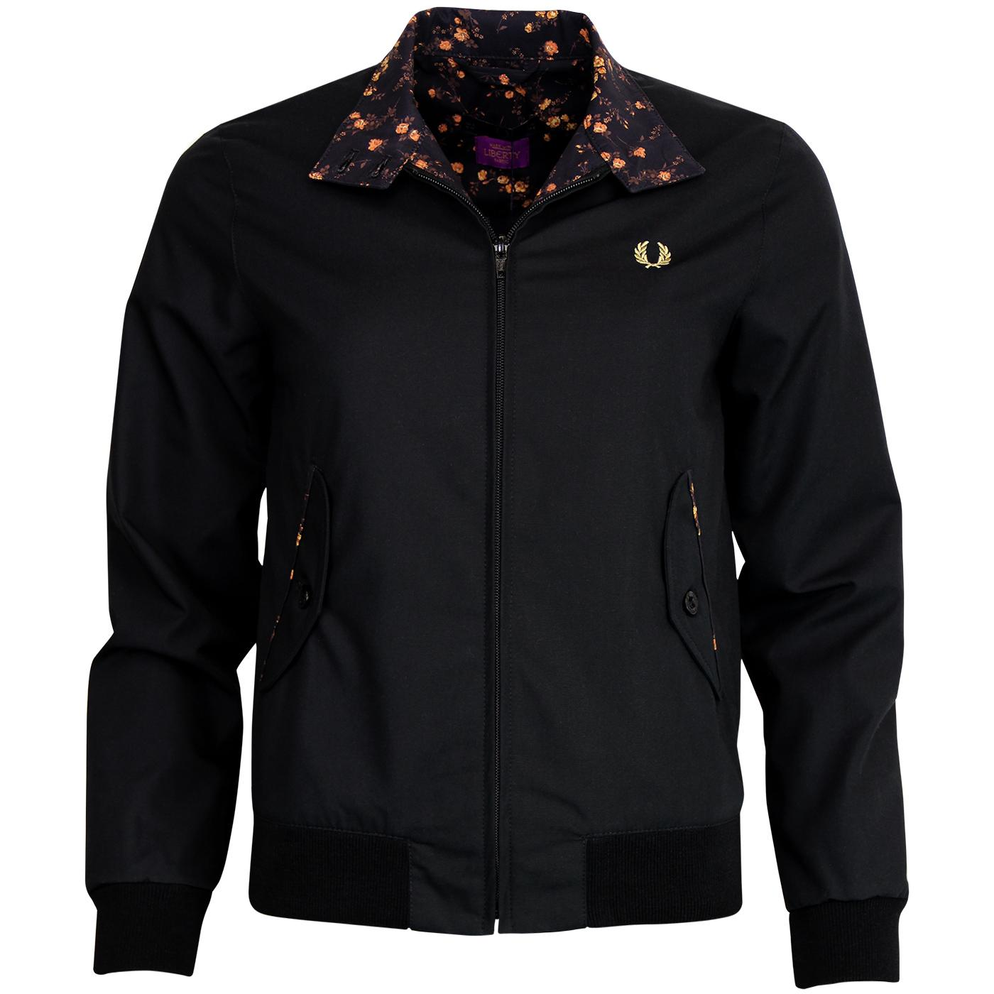 FRED PERRY Women's Liberty Print Harrington Jacket