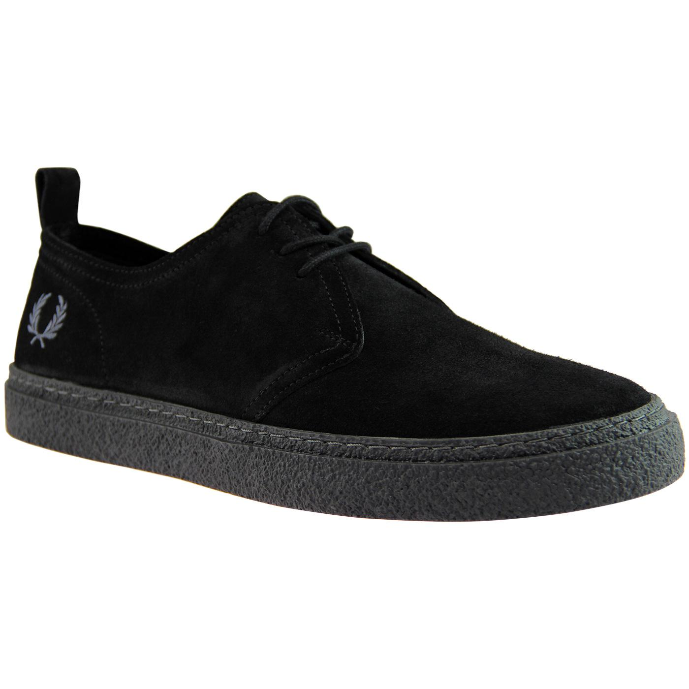 Linden FRED PERRY Retro Mod Suede Shoes - Black