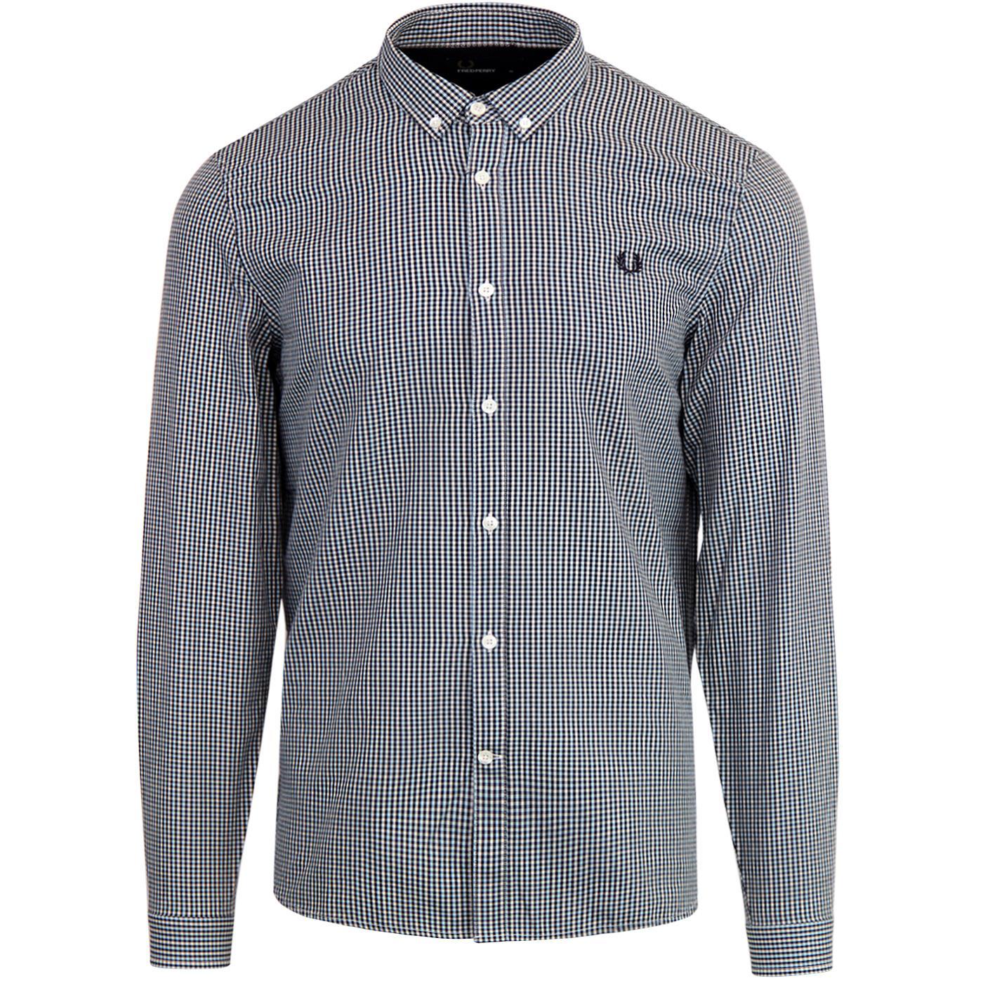 FRED PERRY Retro Mod Basketweave Check Shirt (IB)