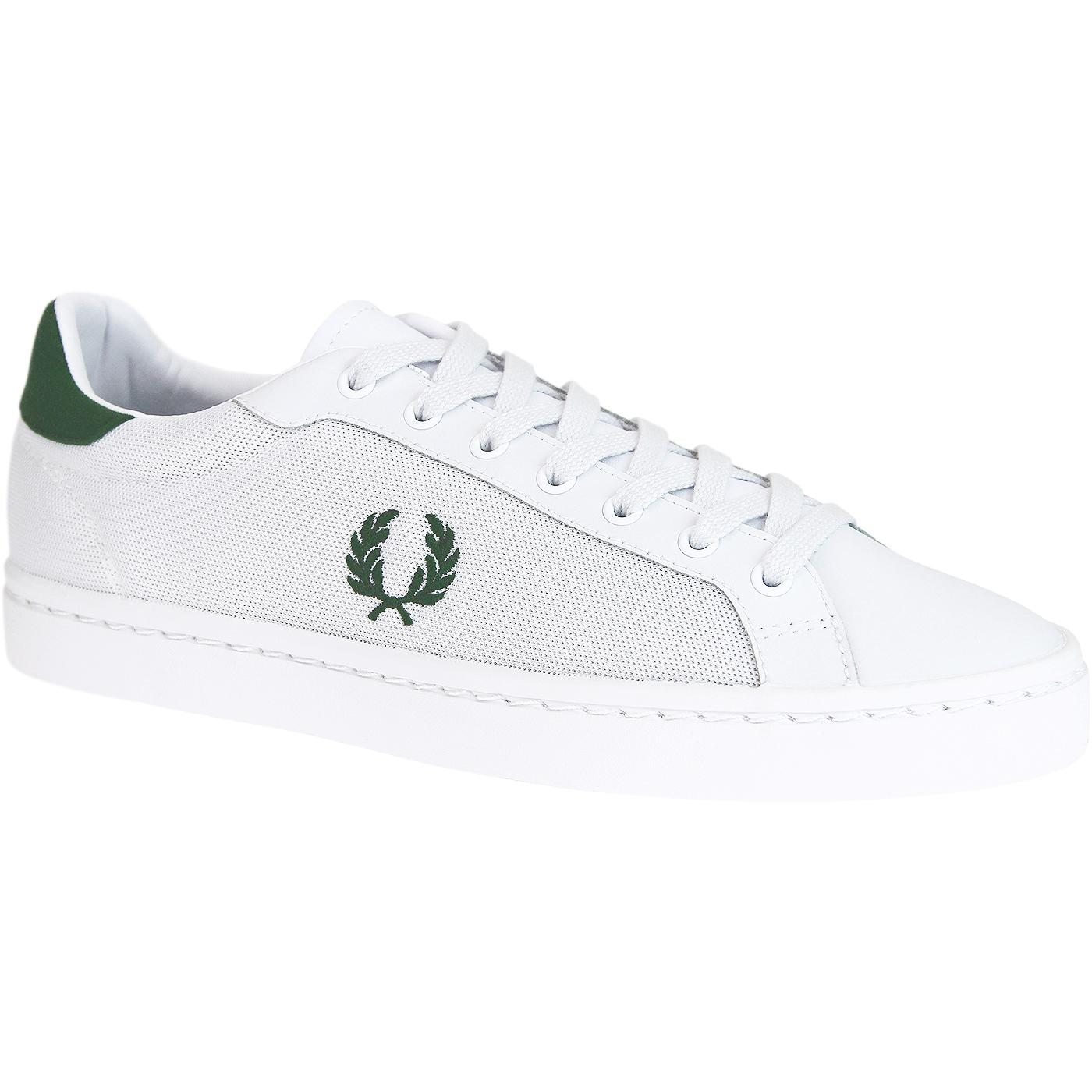 FRED PERRY Lawn Leather/Mesh Retro Men's Trainers
