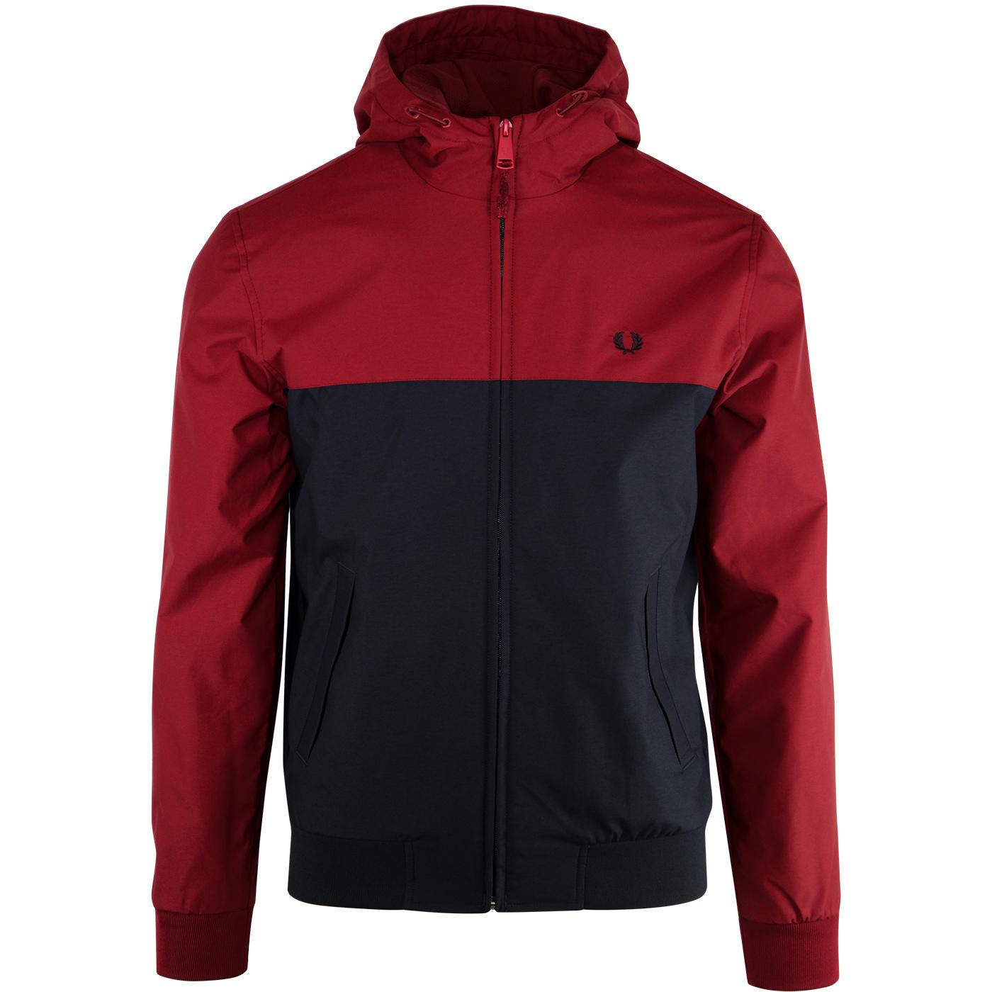 FRED PERRY Retro Hooded Panel Brentham Jacket RED
