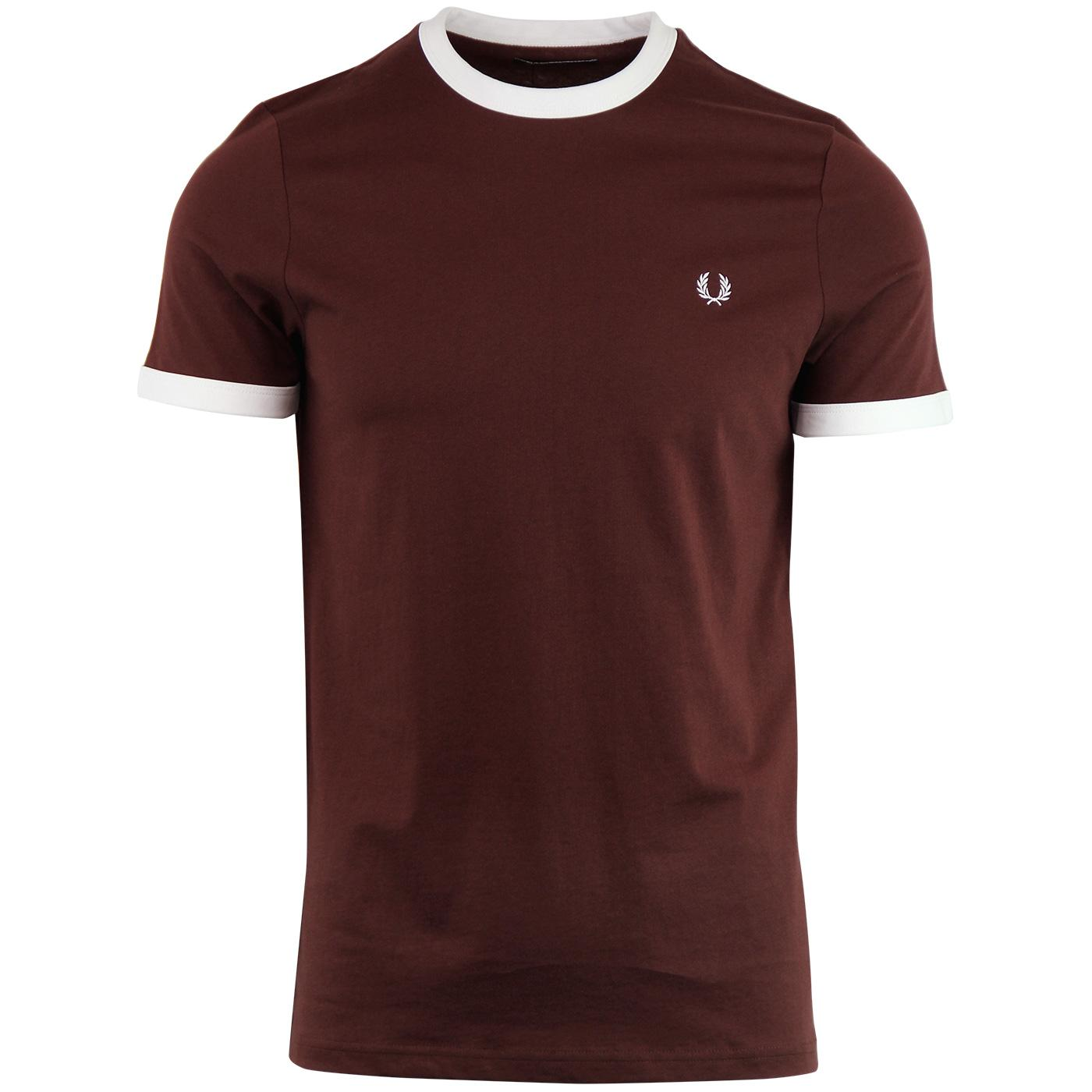 FRED PERRY Retro 1960's Ringer Tee - Stadium Red