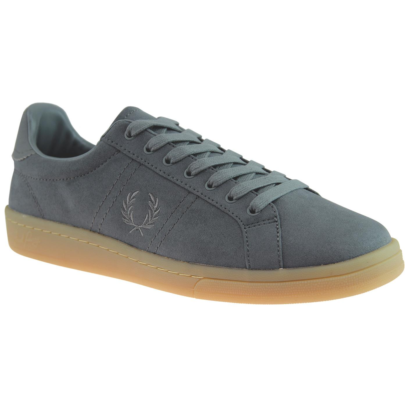 FRED PERRY B721 Retro Microfibre Tennis Trainers A